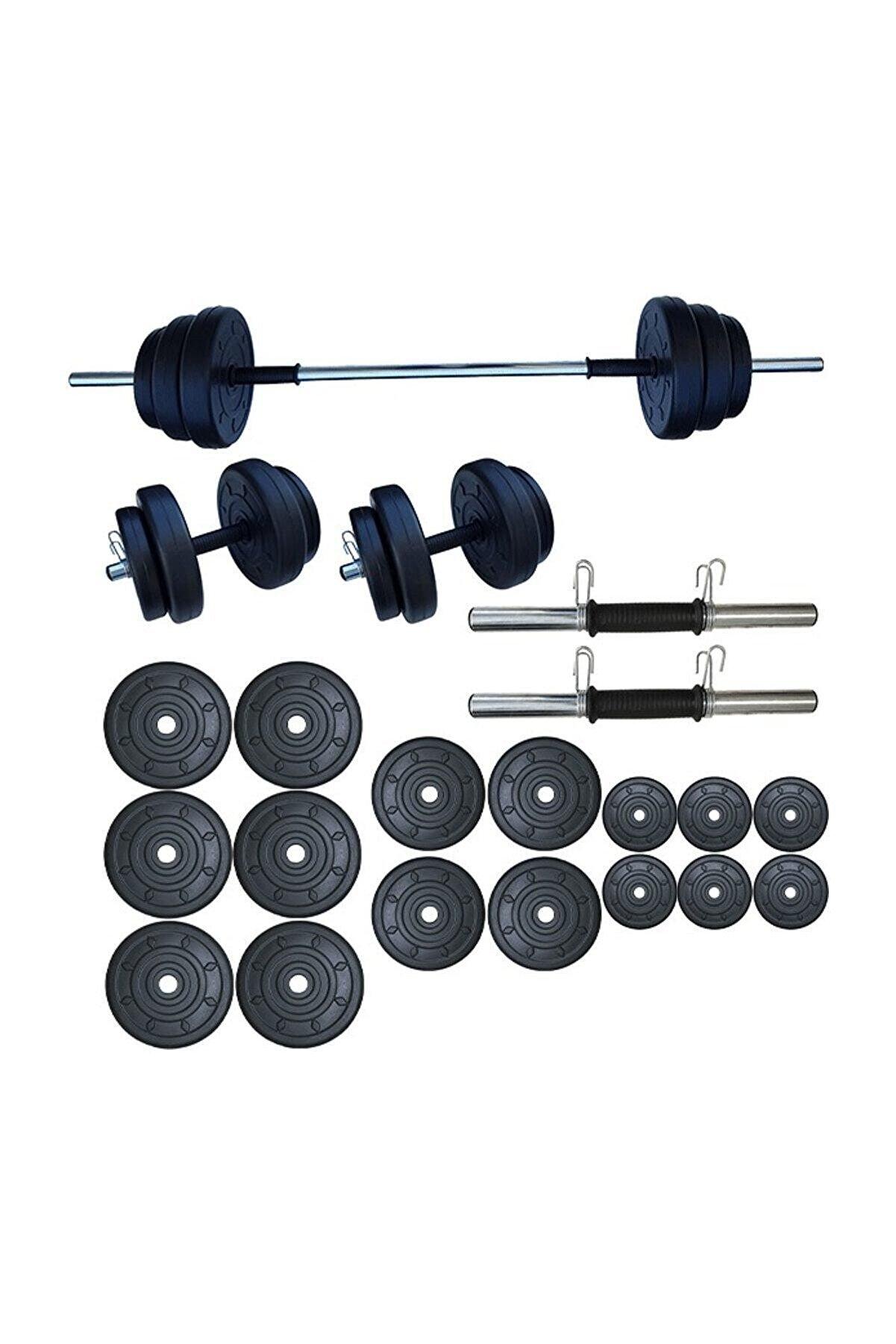 Dambılcım Halter Seti Dambıl Seti Ağırlık Ve Vücut Geliştirme Aleti 85 kg