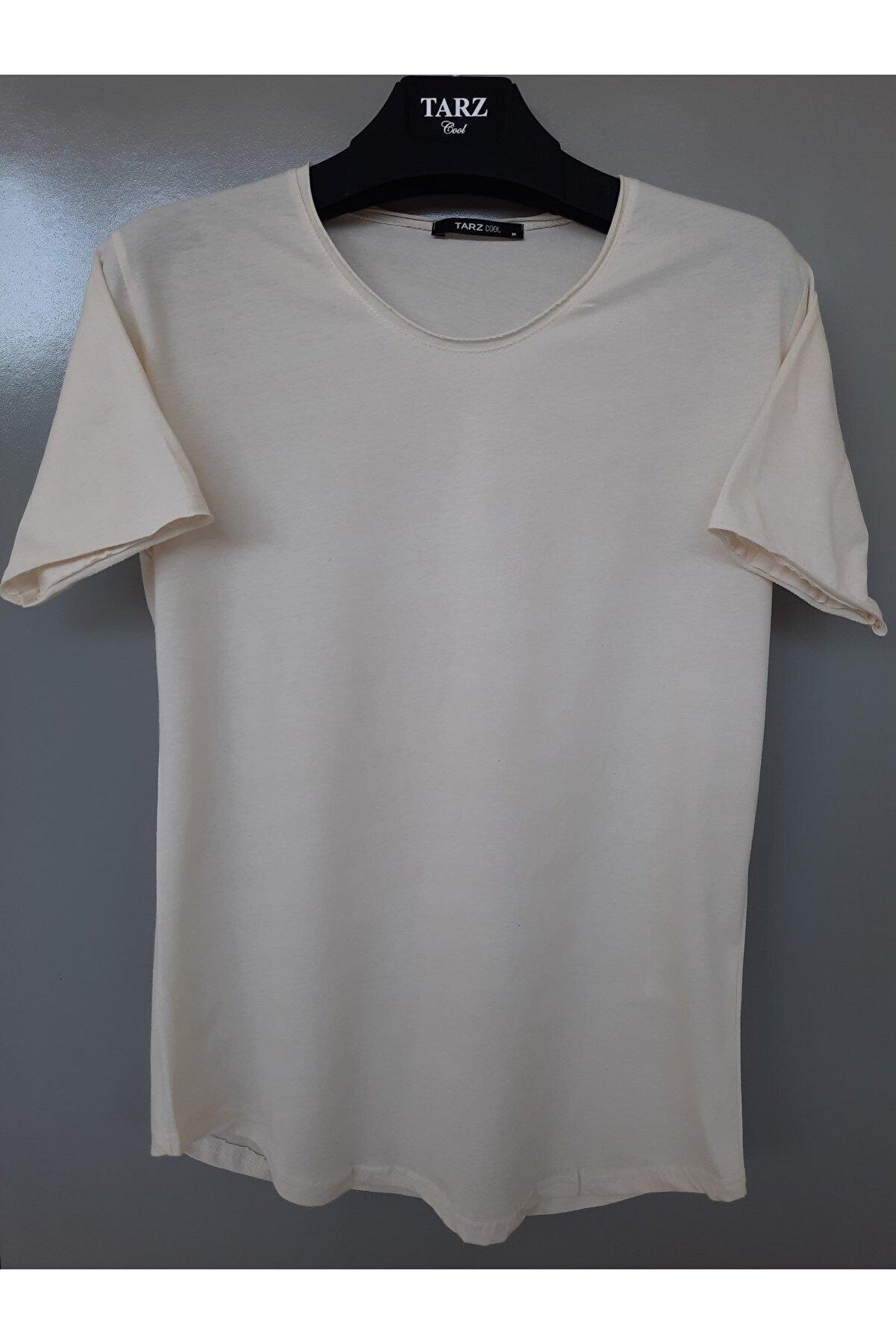 Tarz Cool Erkek Taş Pis Yaka Salaş T-shirt