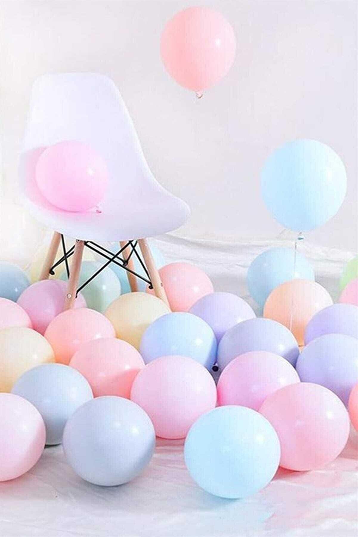 Magic Hobby Makaron Pastel Karışık Renk 50'li Balon