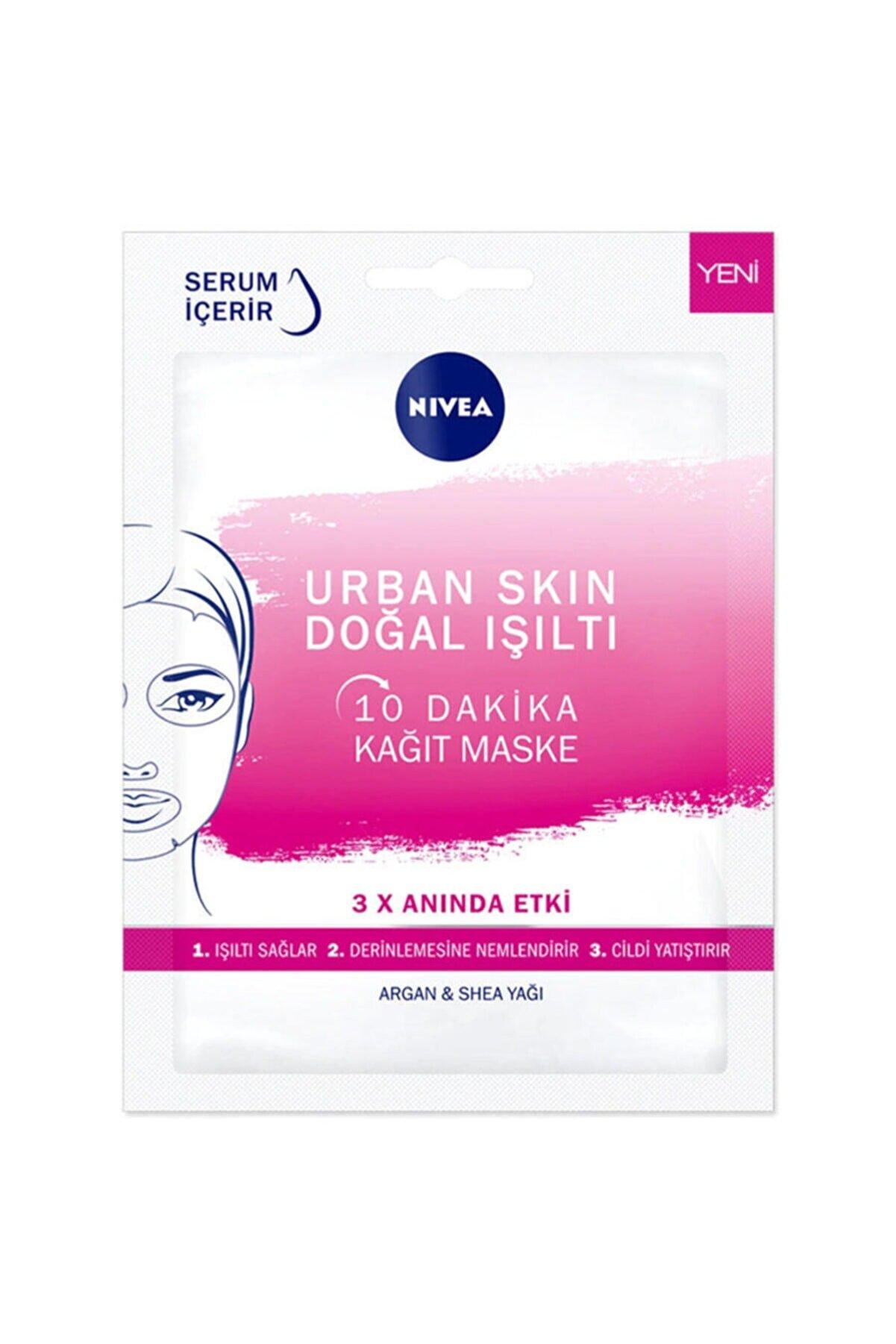 Nivea 10 Dakika Urban Skin Doğal Işıltı Kağıt Yüz Maskesi