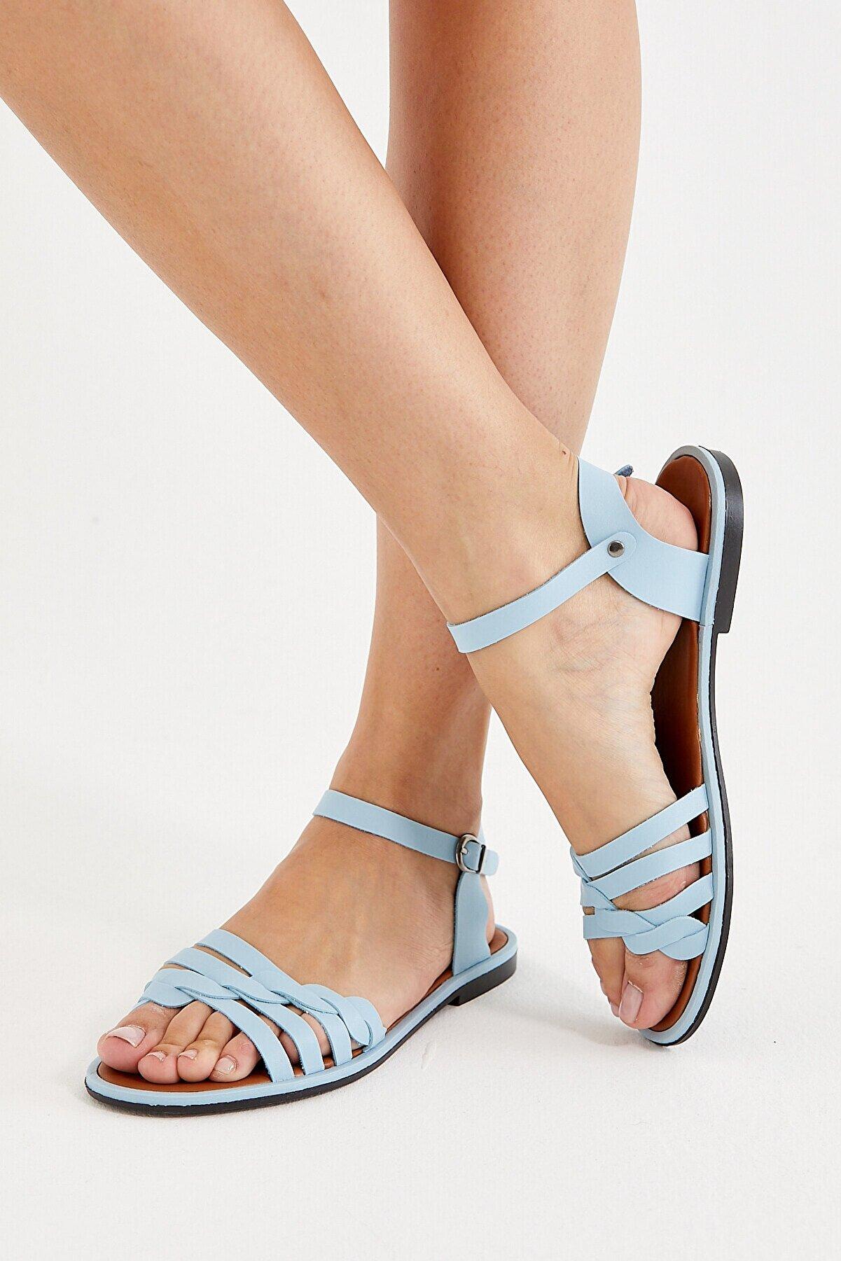 VM SHOES Kadın Mavi Sandalet Vmsnd007