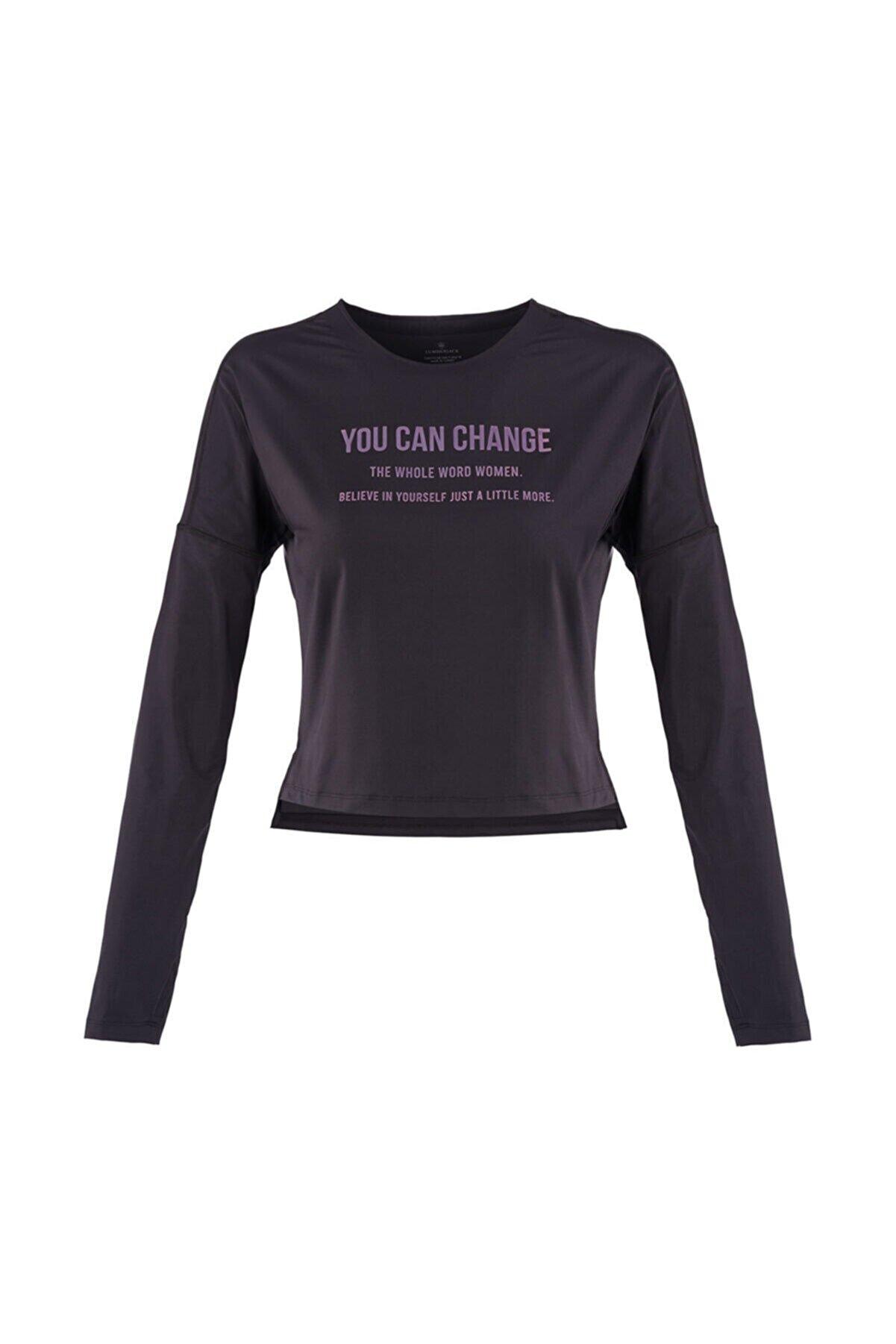 Lumberjack MARTA SLOGAN TOP Siyah Kadın T-Shirt 100559798
