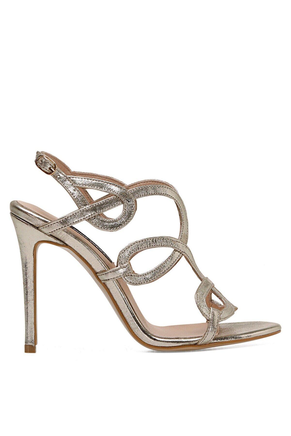 Nine West TONA Altın Kadın Topuklu Sandalet 100526674