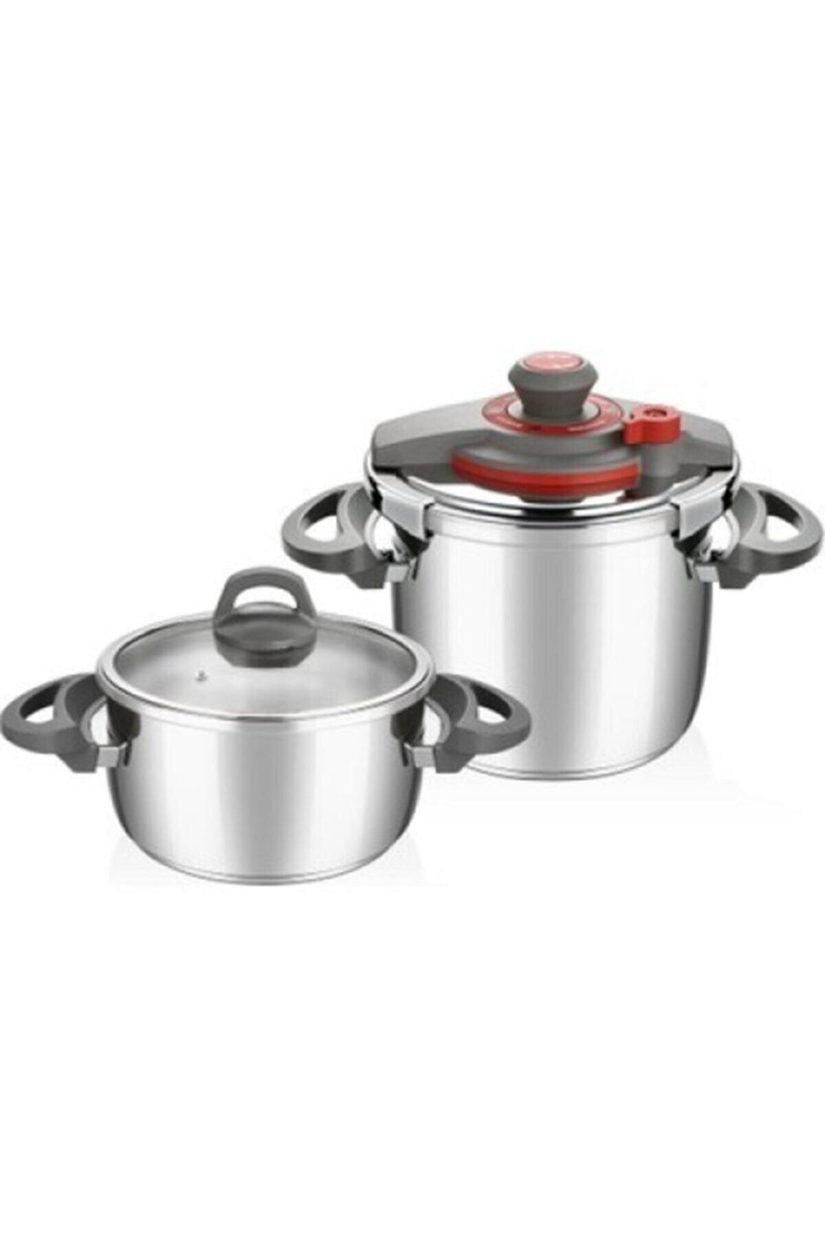 Falez 22 Cm Profi Cook Premium 4+7lt Düdüklü 2 li Tencere Seti