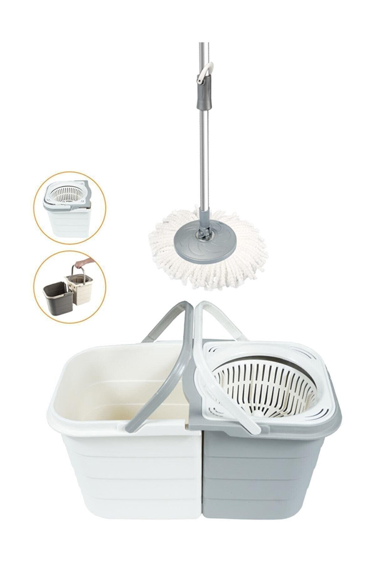 Spin Mop Duo 19 Litre Kirli Su Temiz Su Ayrı Yeni Temizlik Seti