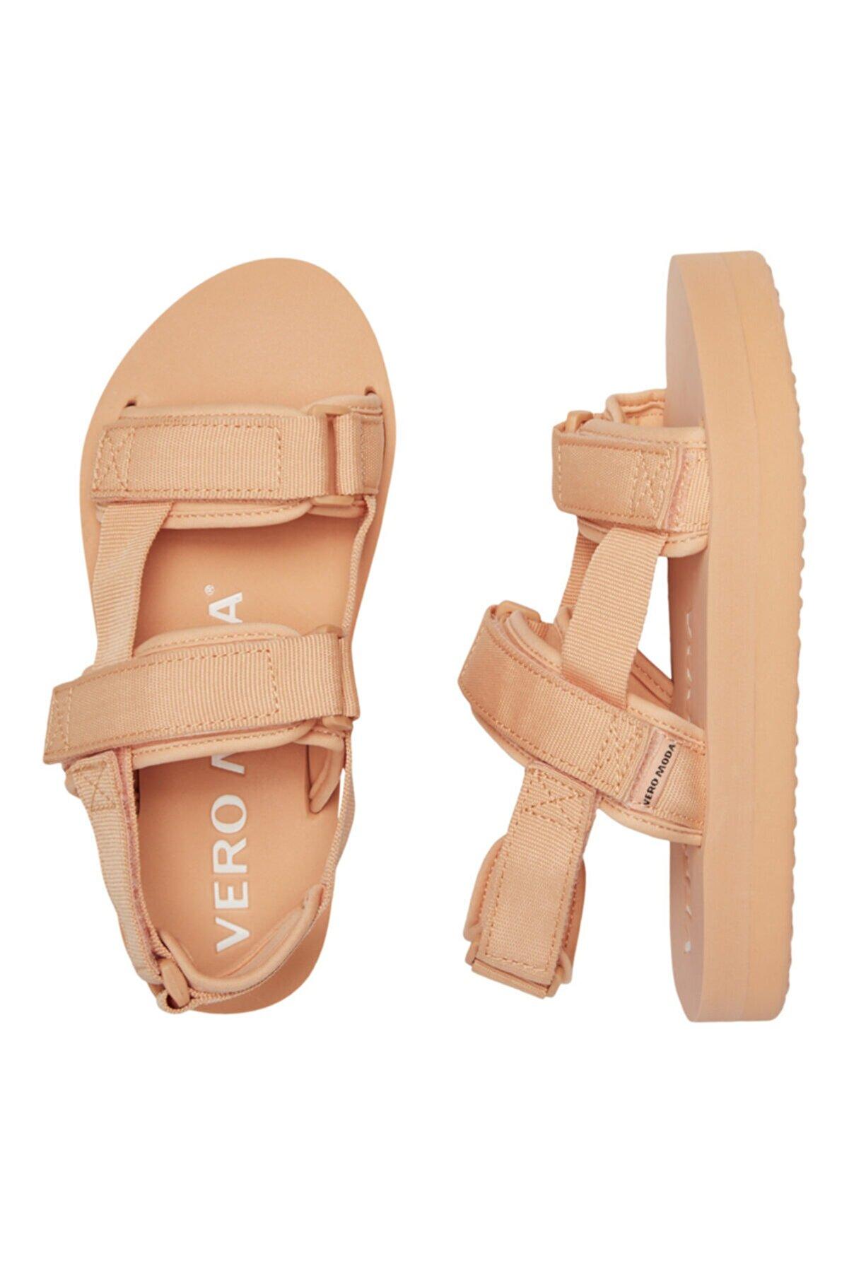 Vero Moda Kadın Kahverengi Ayarlanabilir Bantlı Sandalet 10195807 Vmlıa