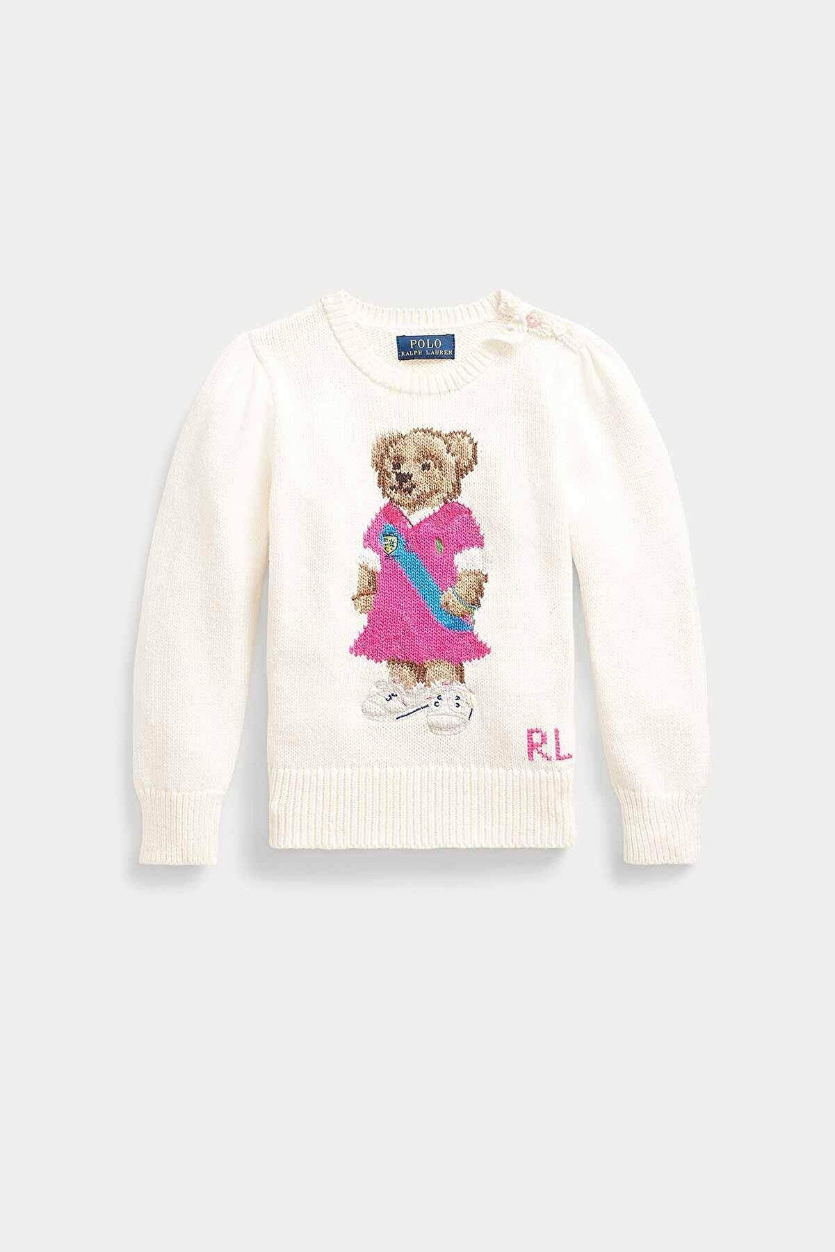 Ralph Lauren Polo Ralph Lauren 2-6.5 Yaş Kız Çocuk Polo Bear Örgü Triko