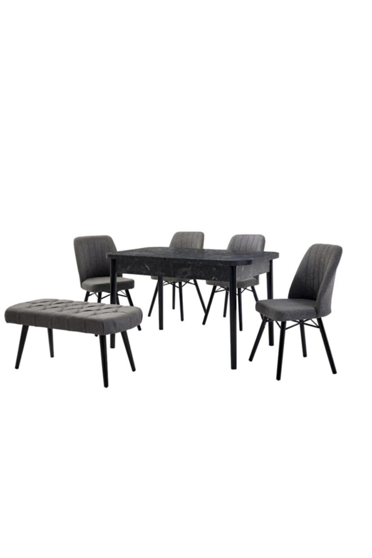 Kaktüs Avm Mutfak Masası Salon Masası Masa Sandalye Takımı Açılır Masa Bench Sandalye