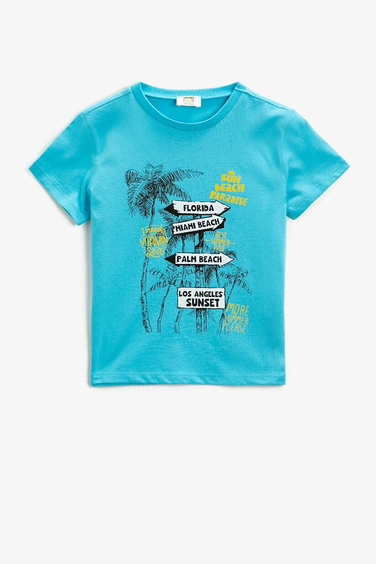 Koton Erkek Çocuk A.Yeşil T-Shirt1YKB16111OK