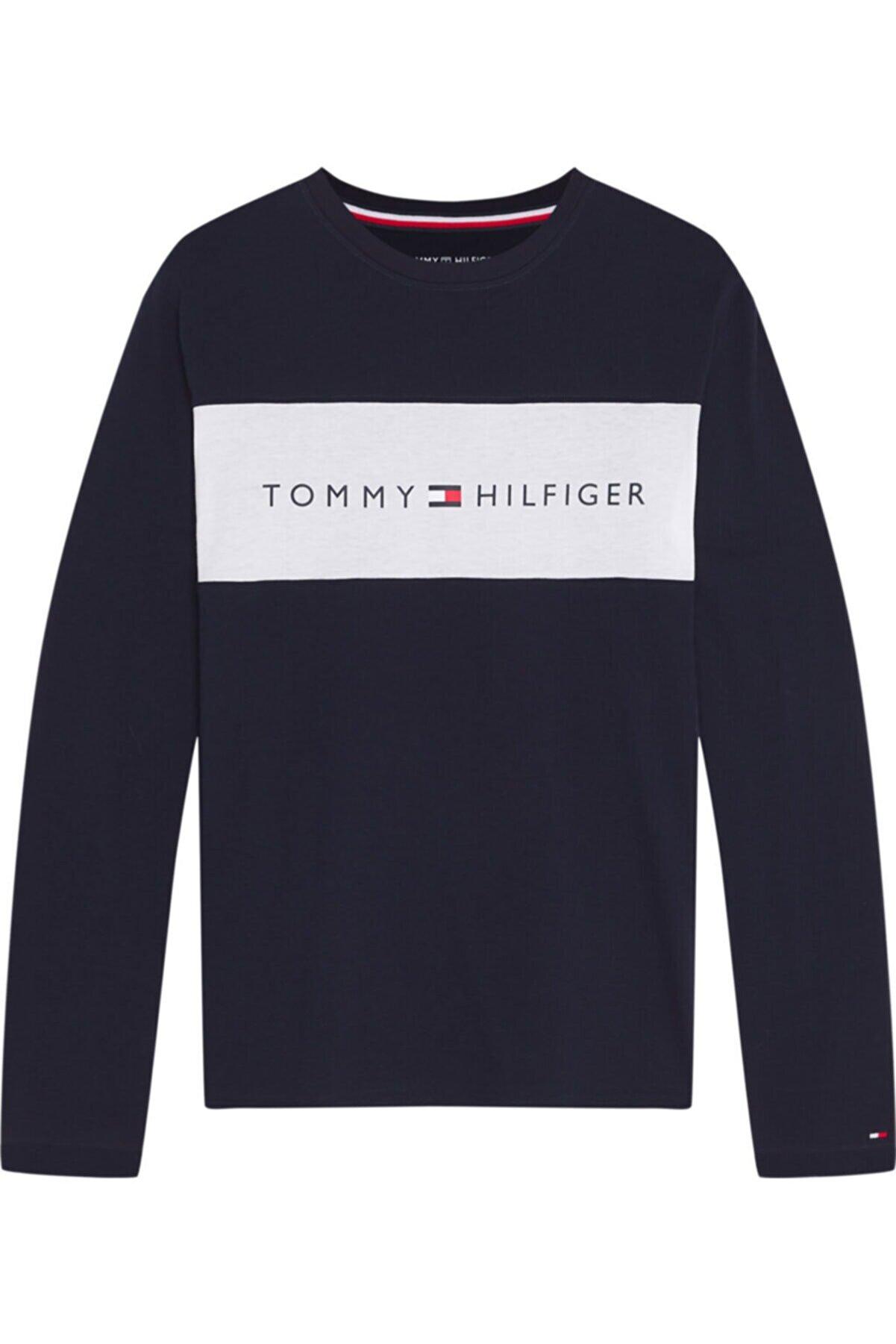 Tommy Hilfiger Th Erkek Cn Logo Flag Uzun Kollu T-shirt