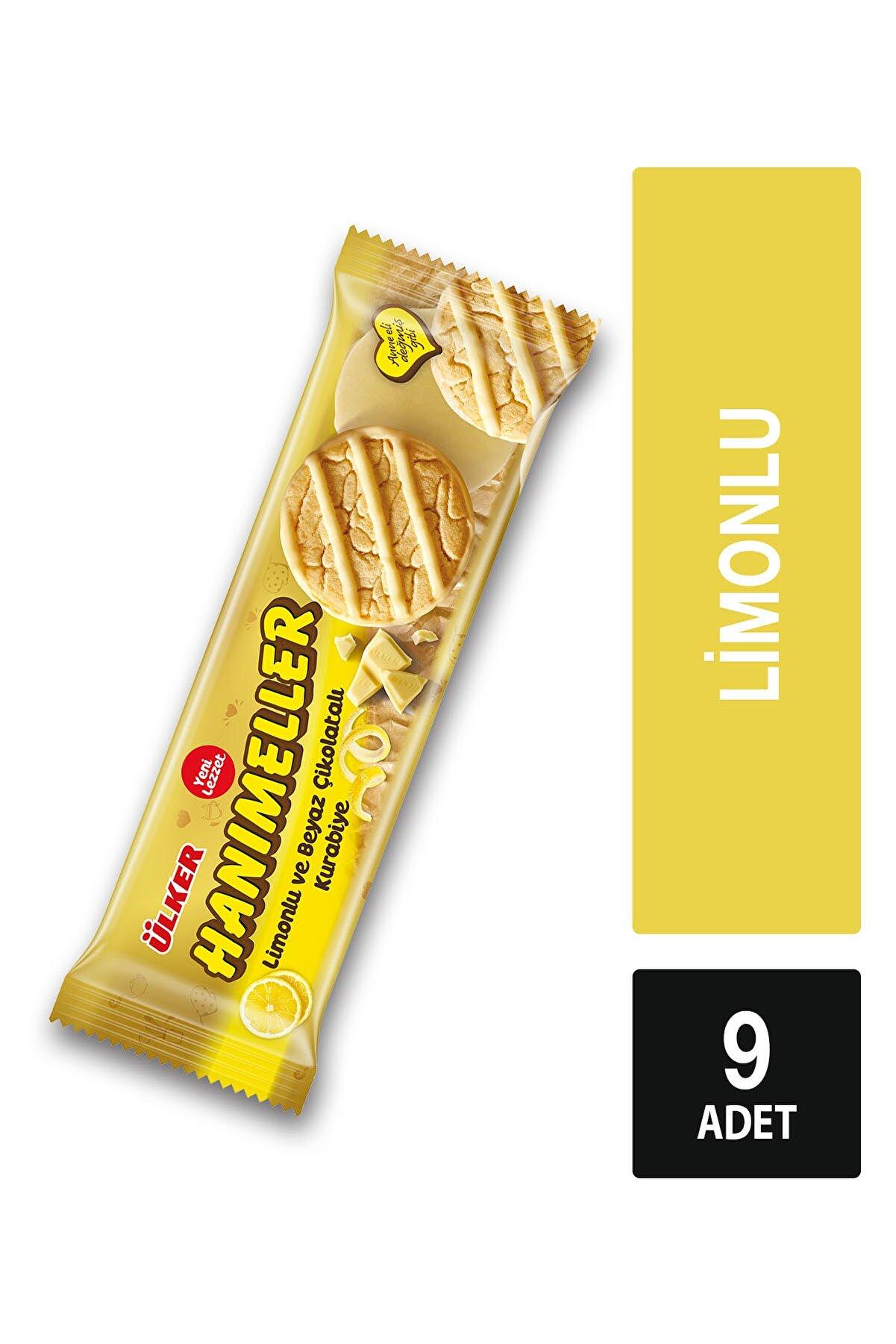 Ülker Hanımeller Limonlu Ve Beyaz Çikolatalı Kurabiye 9 Paket 138 gr