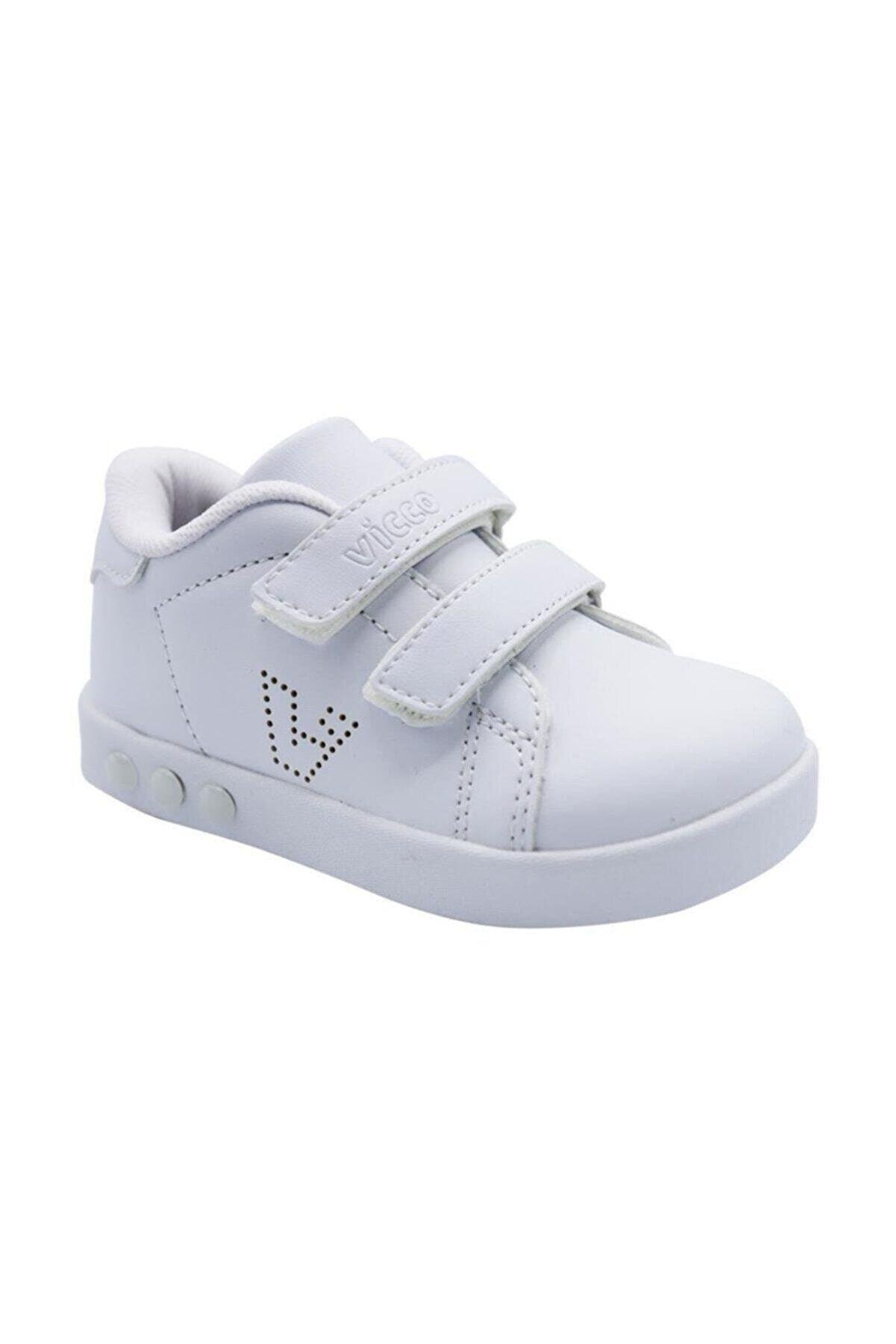 Vicco 313.P19K.100-11 Beyaz Kız Çocuk Yürüyüş Ayakkabısı 100578850