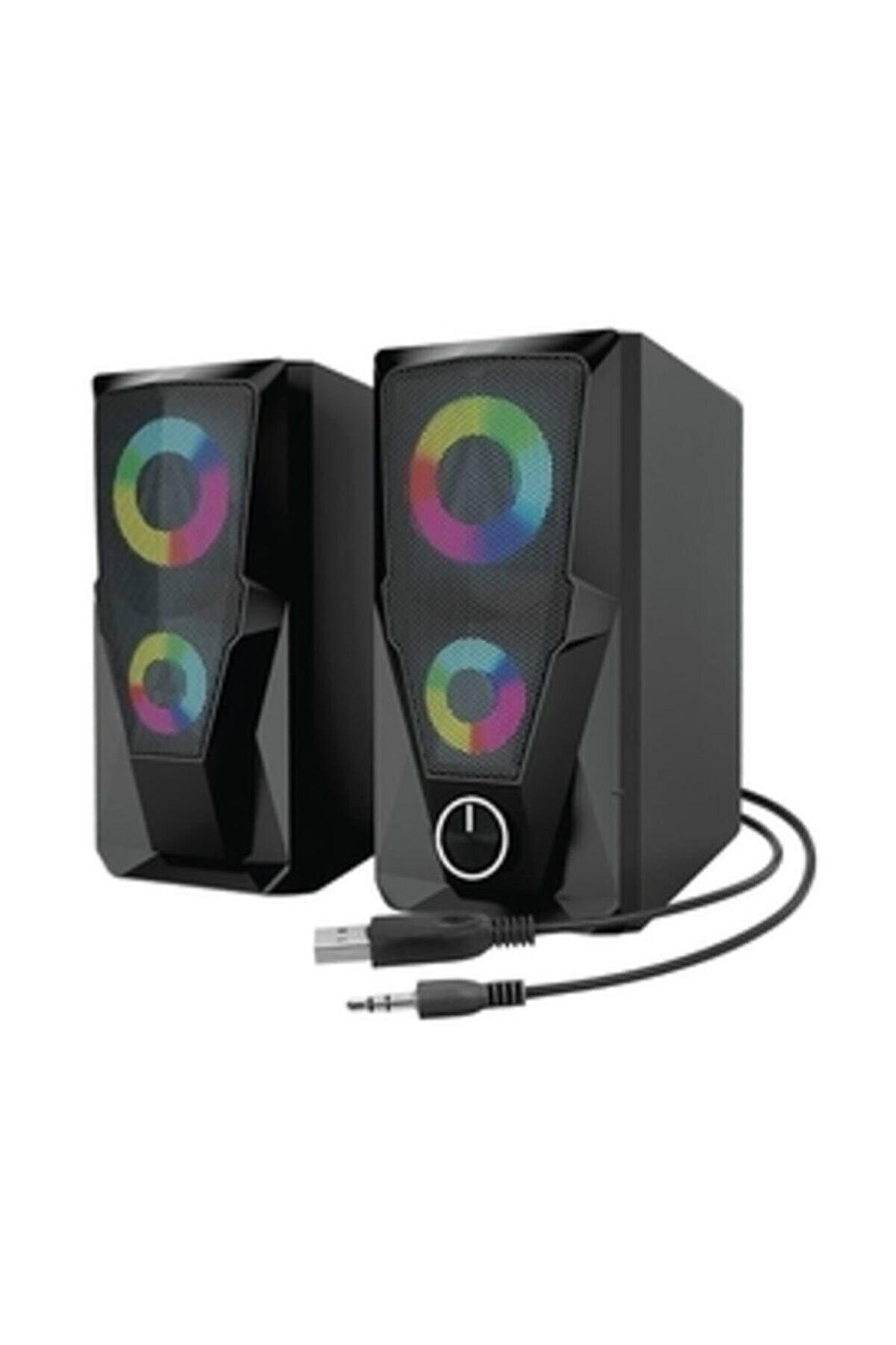 Mikado Md-336 2.0 6 Watt Rgb Ledli Siyah Multimedia Usb Speaker