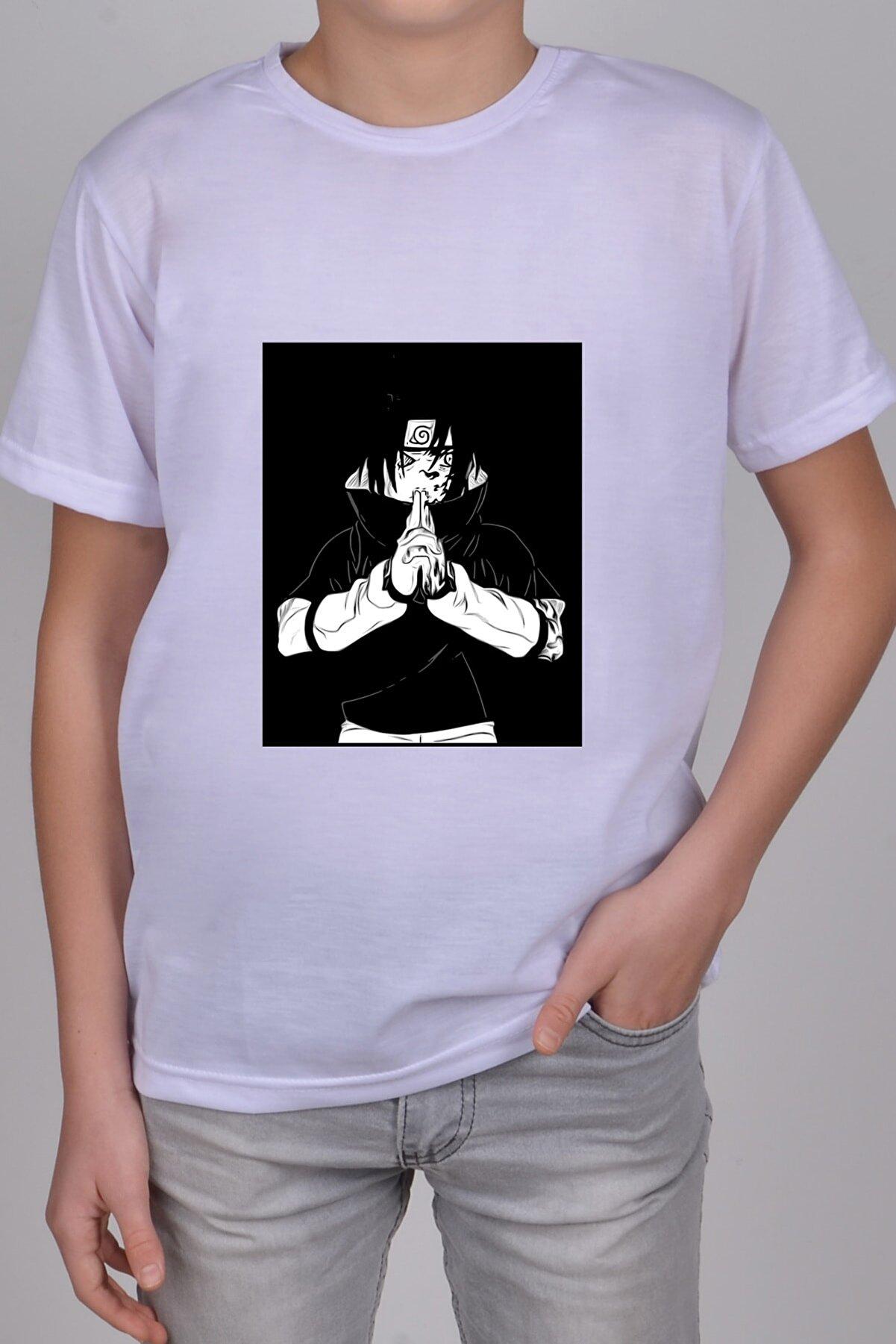 Papatya Tasarım Hediyelik Anime-naruto-çocuk-yetişkin-unisex-t-shirt-anime-naruto-y25