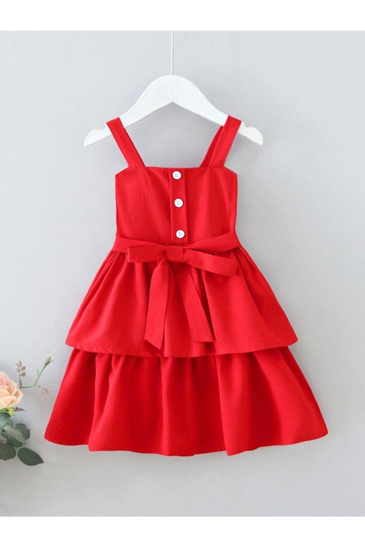 Da&Mira Kız Çocuk Kırmızı Elbise