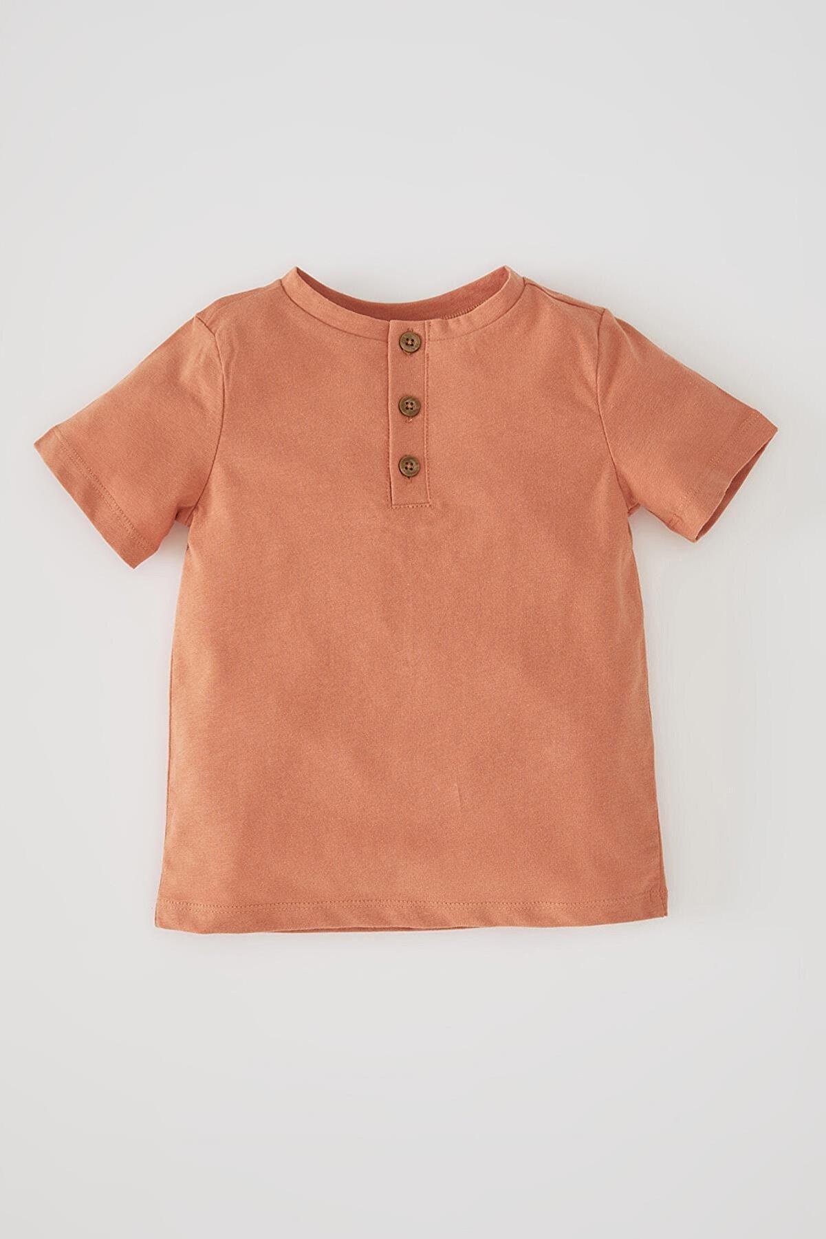 Defacto Unisex Kısa Kollu Pamuklu Tişört
