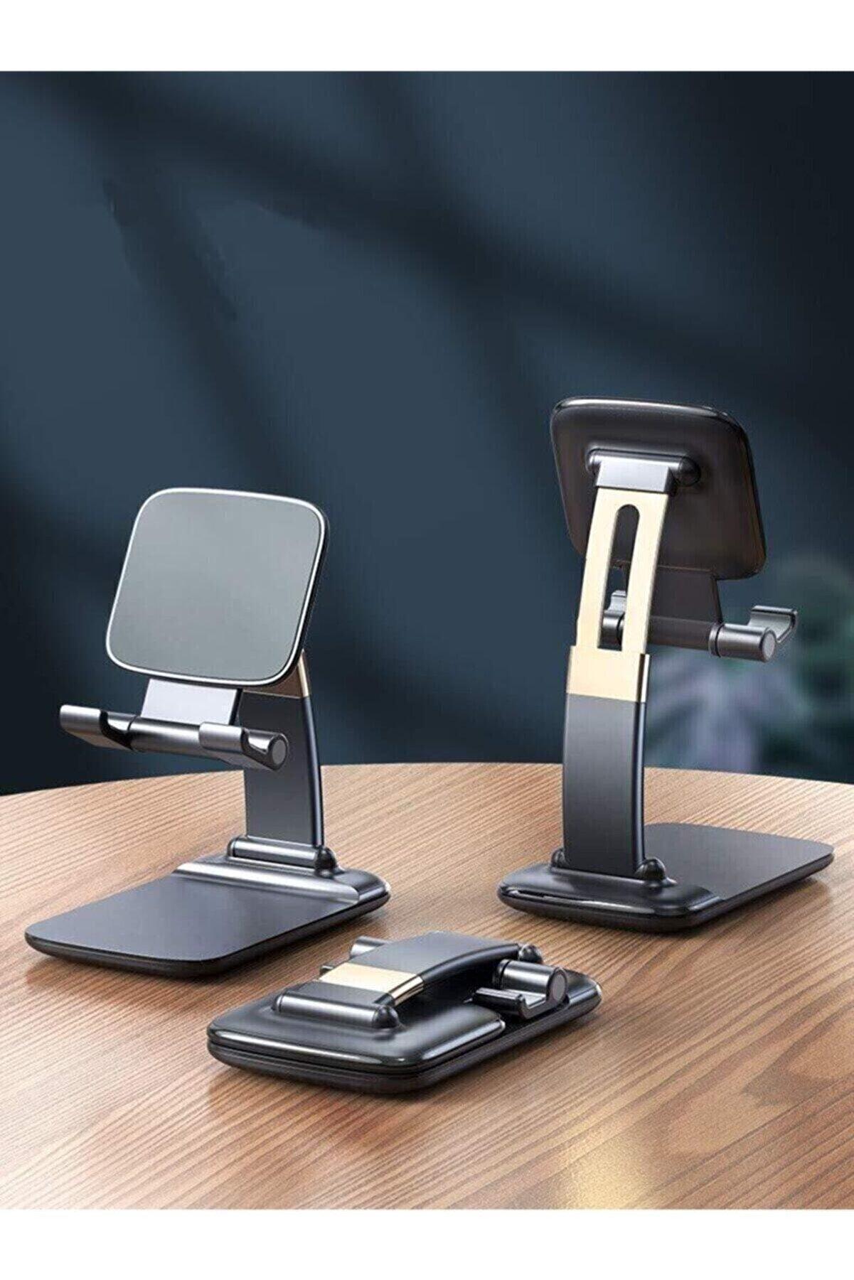 asua Portatif Ayarlanabilir Katlanır Telefon Ve Tablet Masaüstü Stand Tutucu