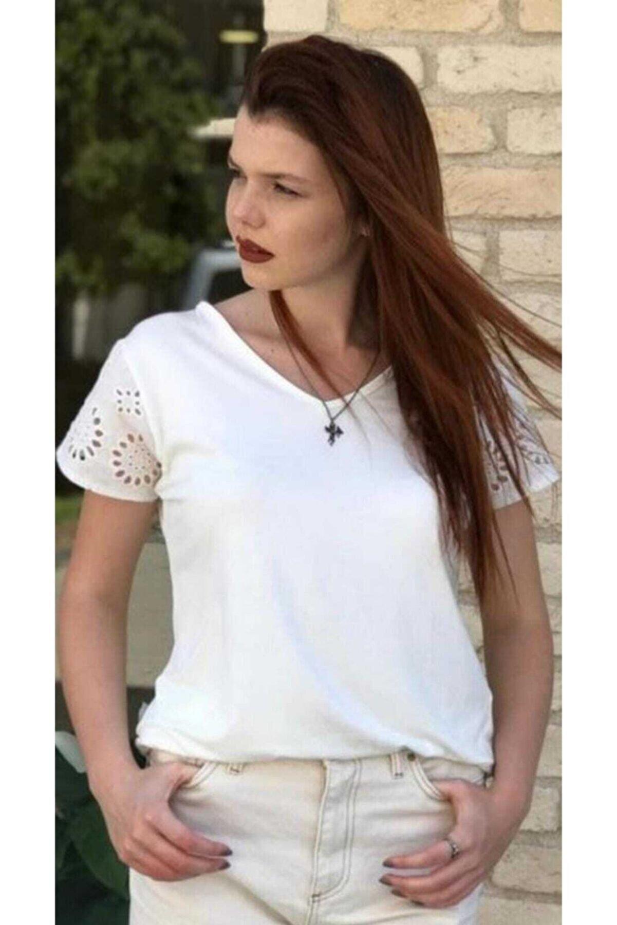 sherrı woman Fisto Kol Detay Bluz