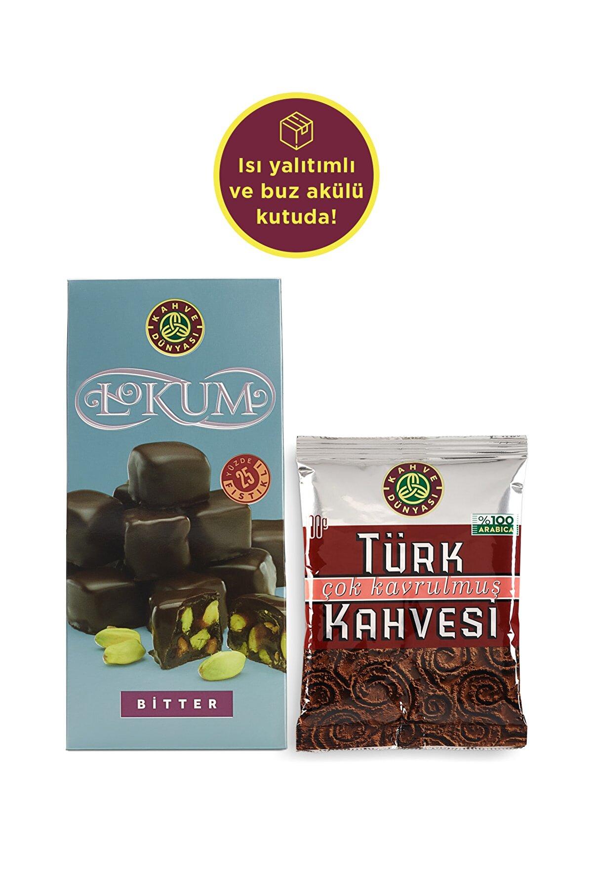Kahve Dünyası Türk Kahvesi Ve Bitter Çikolata Kaplı Lokum Set