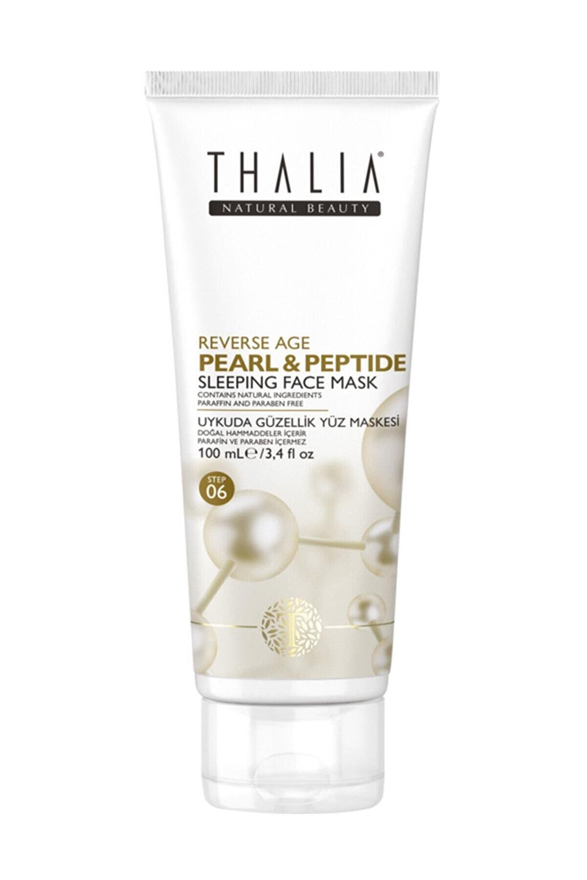 Thalia Natural Beauty Pearl & Peptide Reverse Age Serisi Yaşlanma Karşıtı Uykuda Güzellik Maskesi - 100 ml