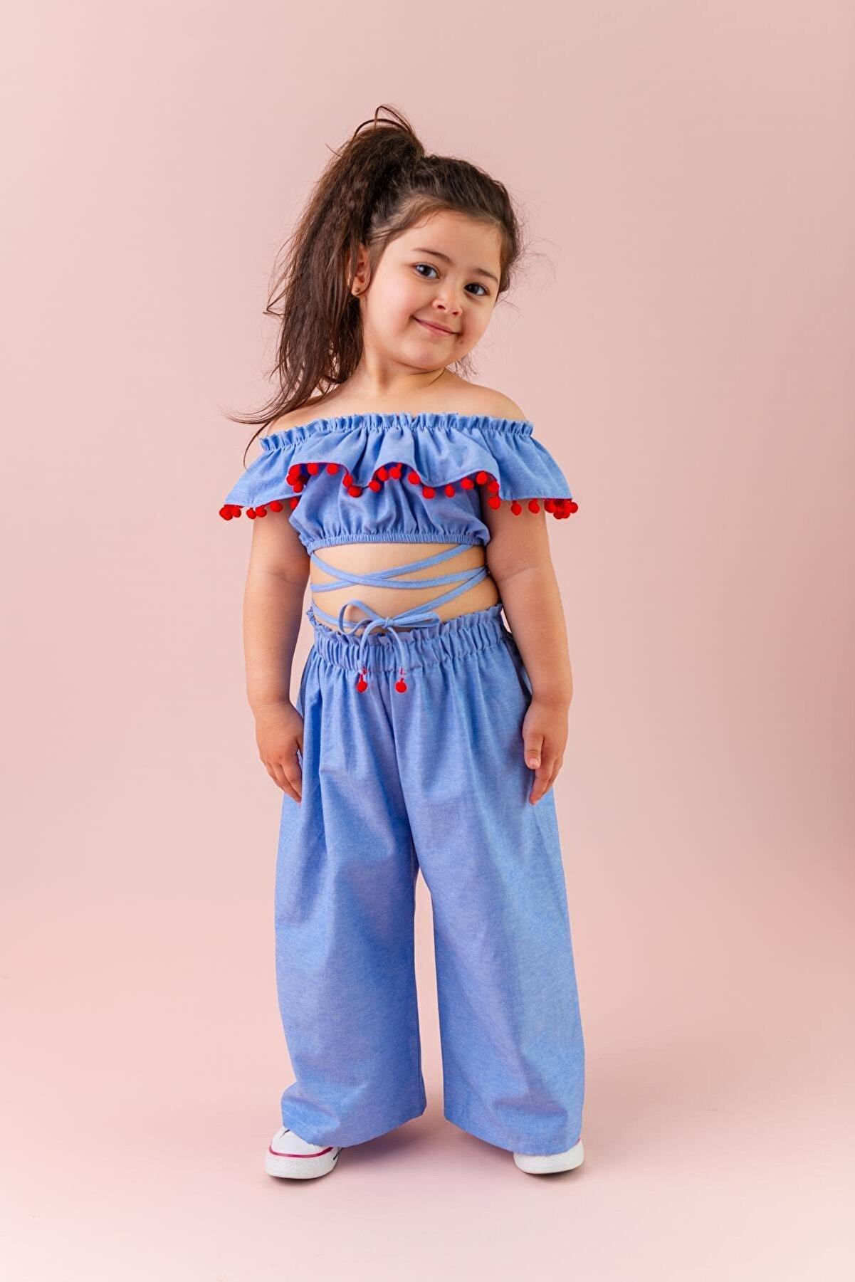 Pixy Love Mavi Kız Çocuk Takım Bianca