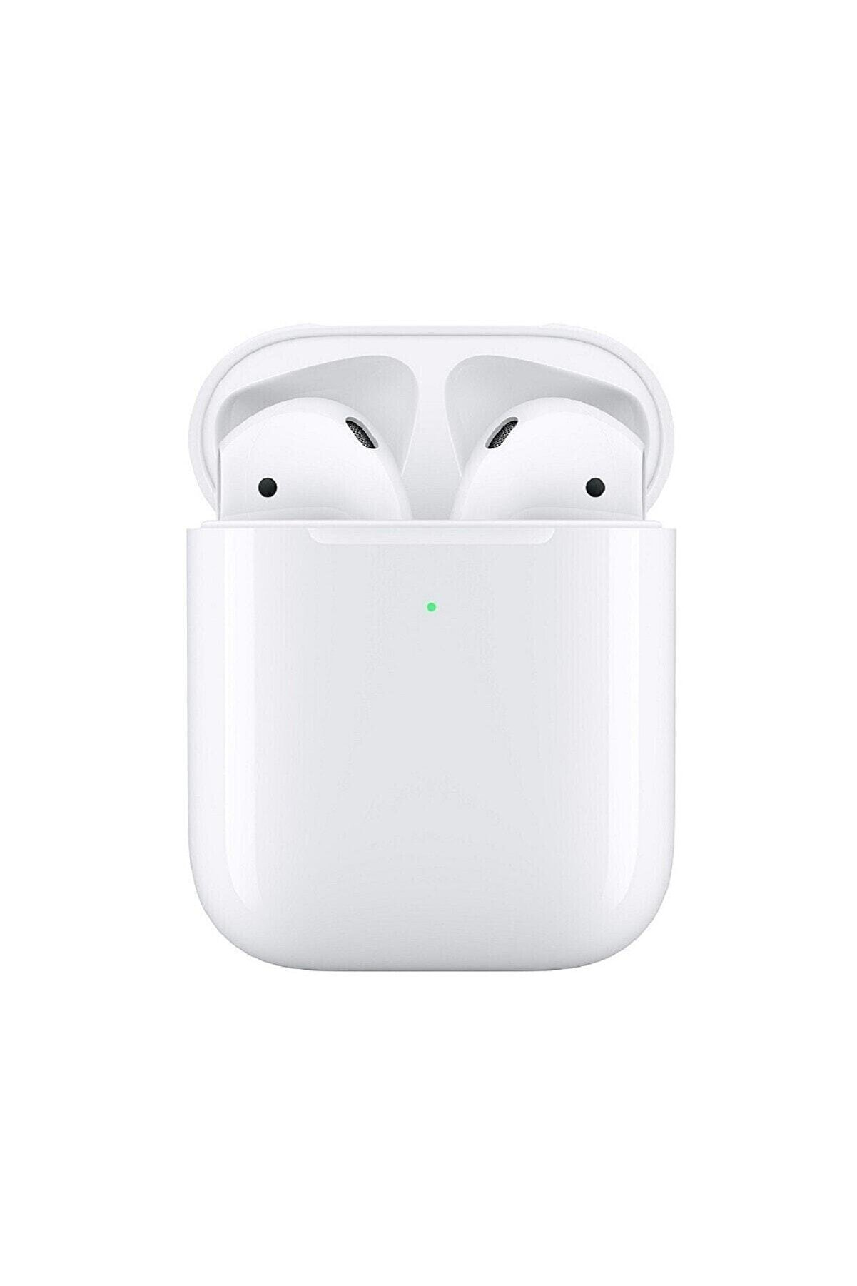 RUKUSHE Airpods 2. Nesil Uyumlu Bluetooth Kulaklık Tüm Telefonlara Uyumlu-dokunmatik- Logolu Seri Nolu