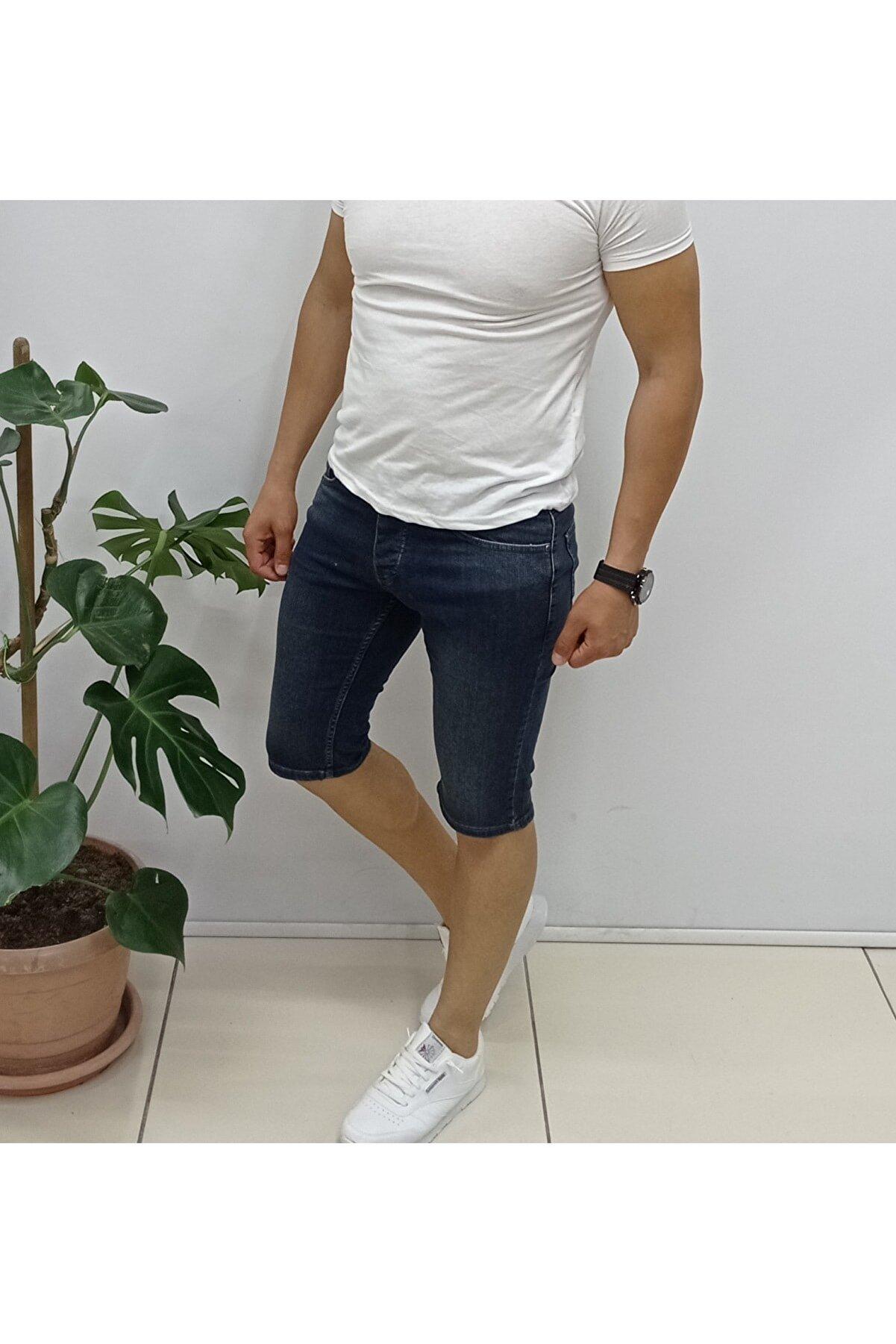 YNGMENCLASS Kot Skinny Fit Jean Bermuda Şort