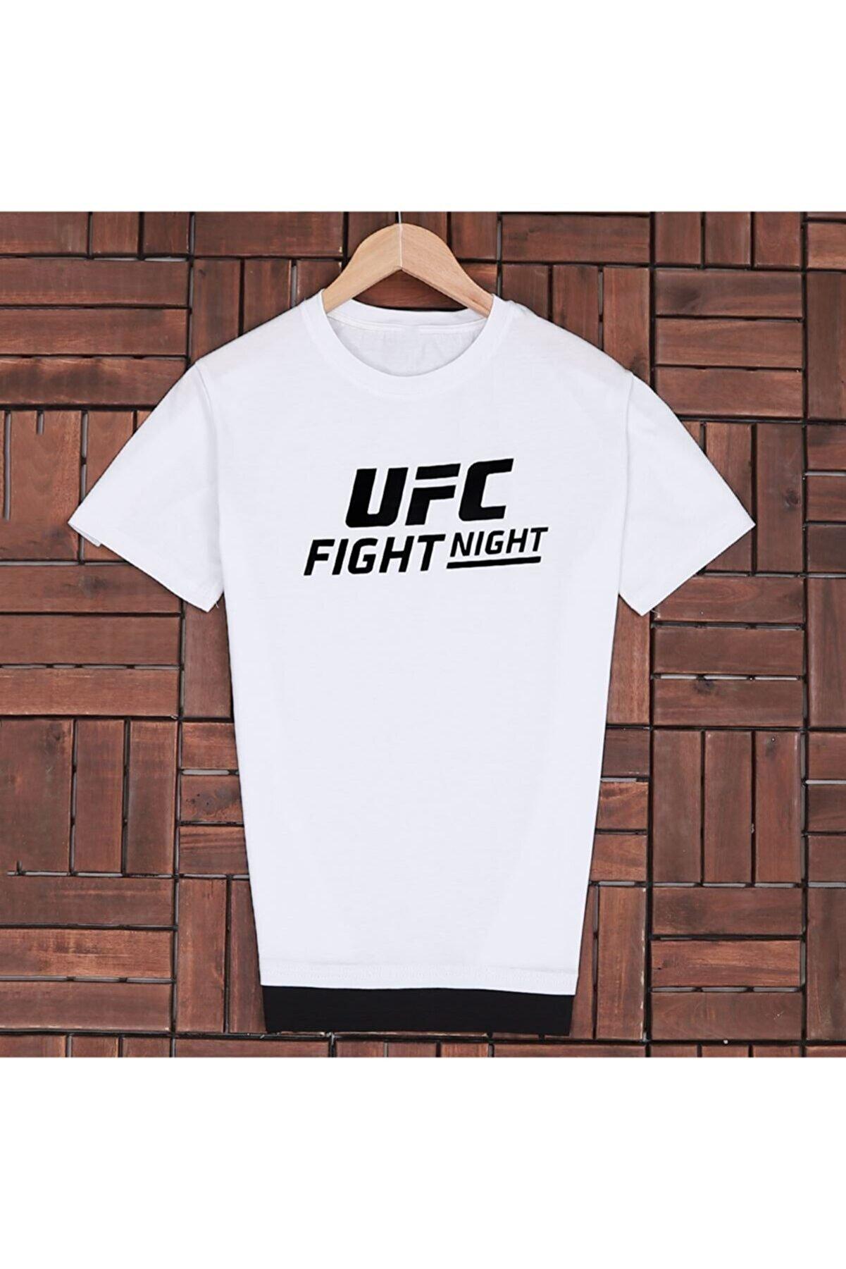 uyguntarz Fight Beyaz Baskılı Tsh018/b-20