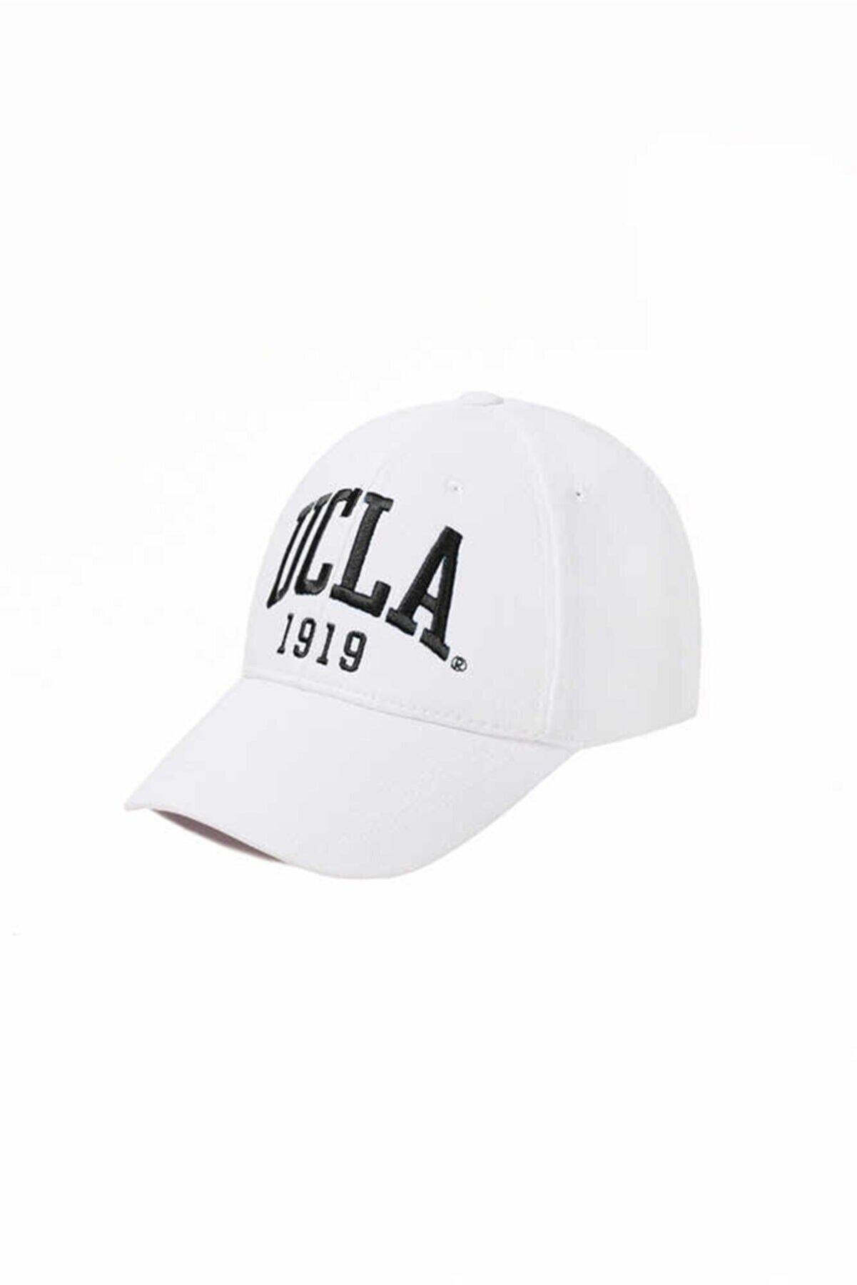 Ucla Ballard Beyaz Siyah Nakışlı Şapka