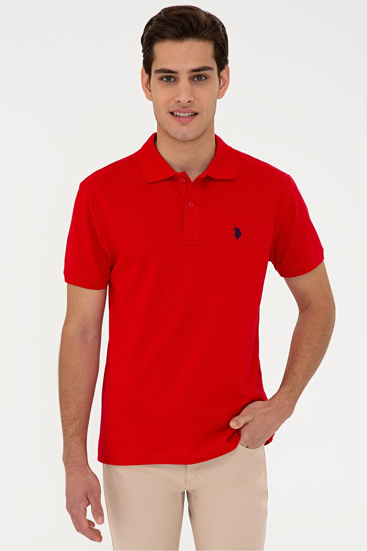 US Polo Assn Kırmızı Erkek T-Shirt