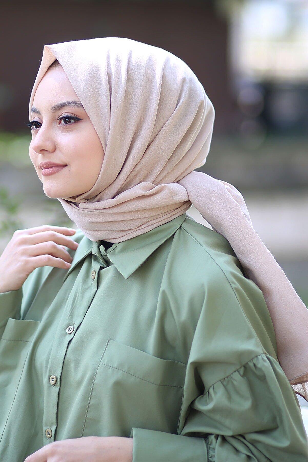 AFVENTE Kadın Vizon Cotton Pamuk Şal Ck01