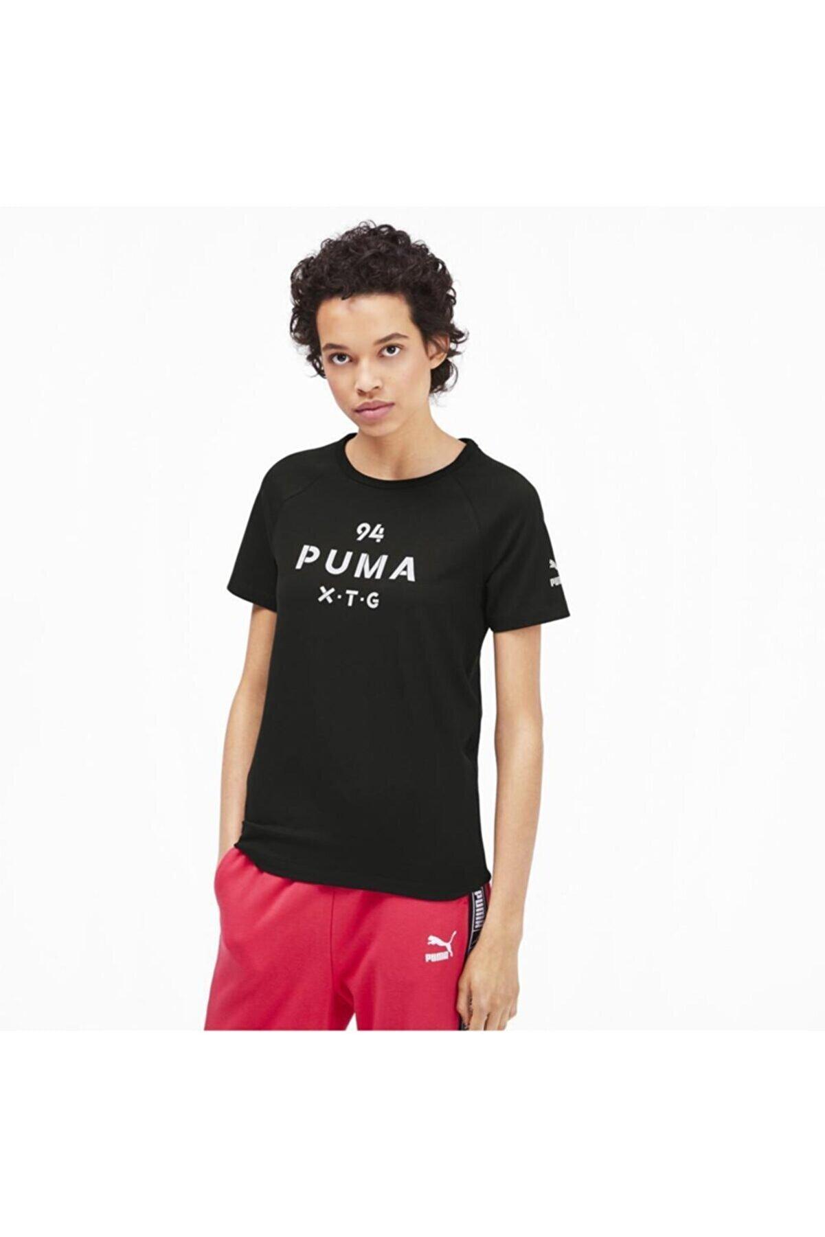 Puma XTG GRAPHIC TOP Siyah Kadın T-Shirt 100569447