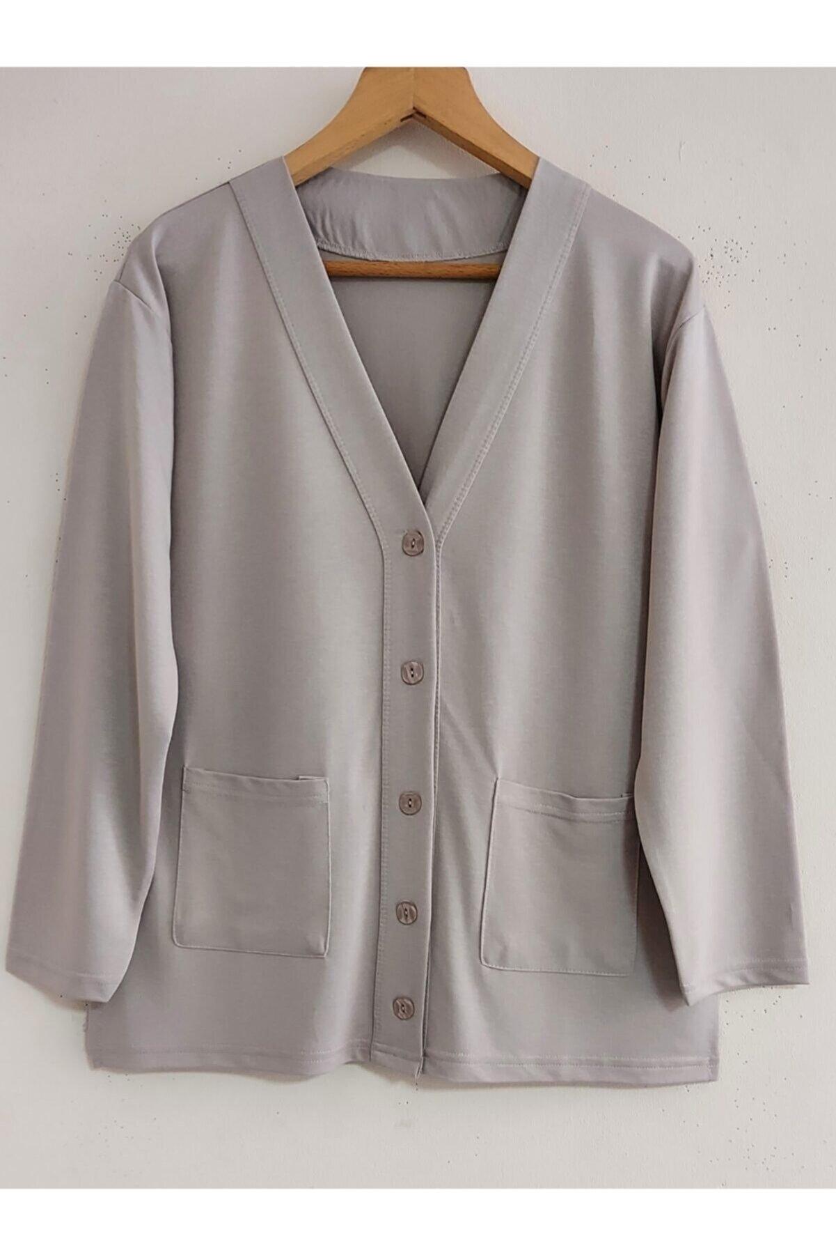 SİNAY Uzun Kollu Penye Kadın Tunik Ceket