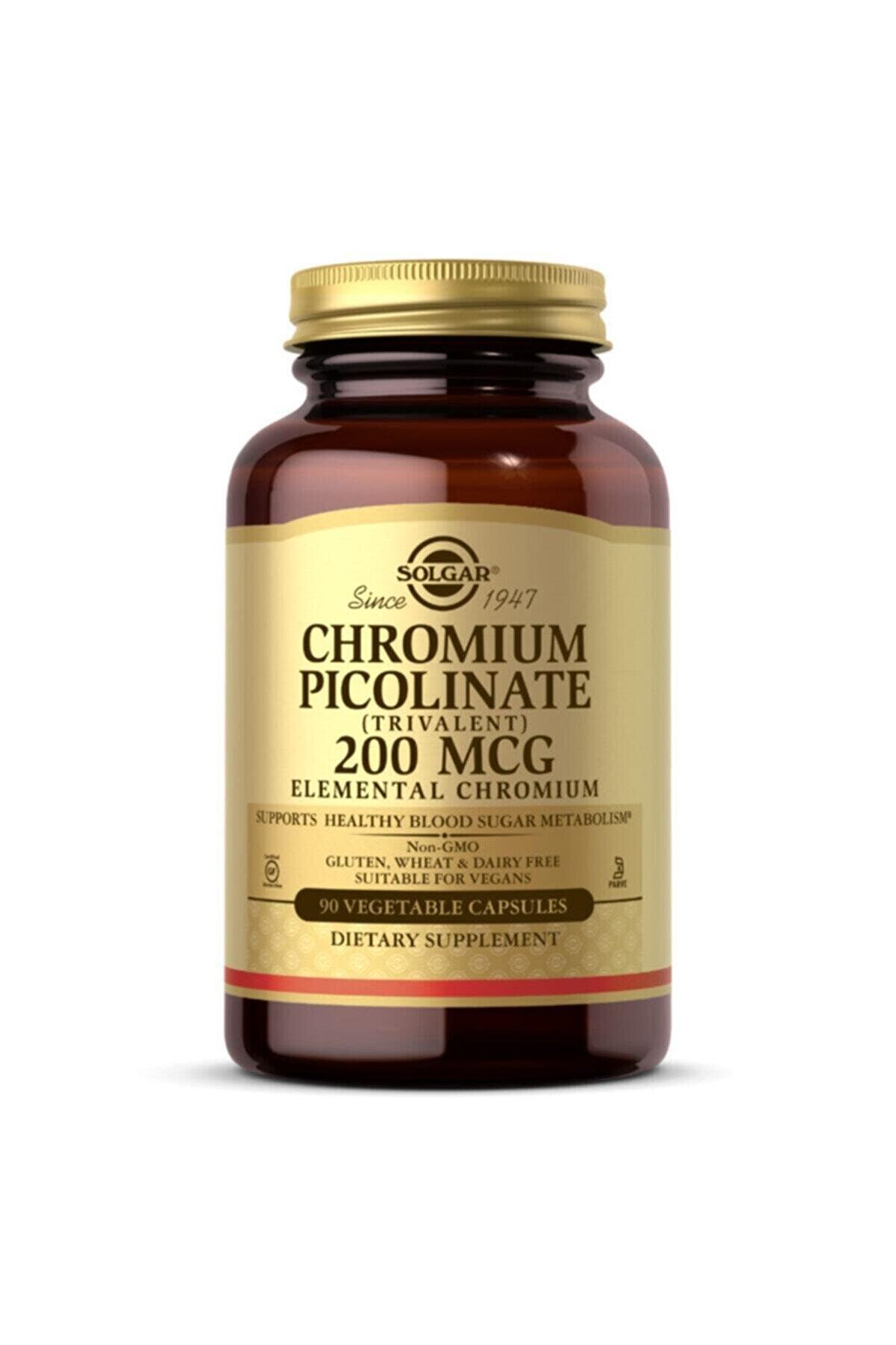 Solgar Chromium Picolinate 200 mcg 90 Kapsül 033984008663