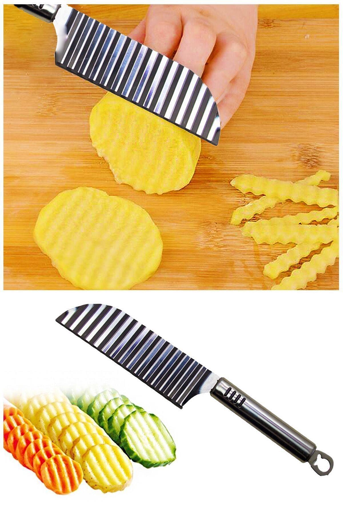 Helen's Home Paslanmaz Çelik Şekilli Patates Bıçağı