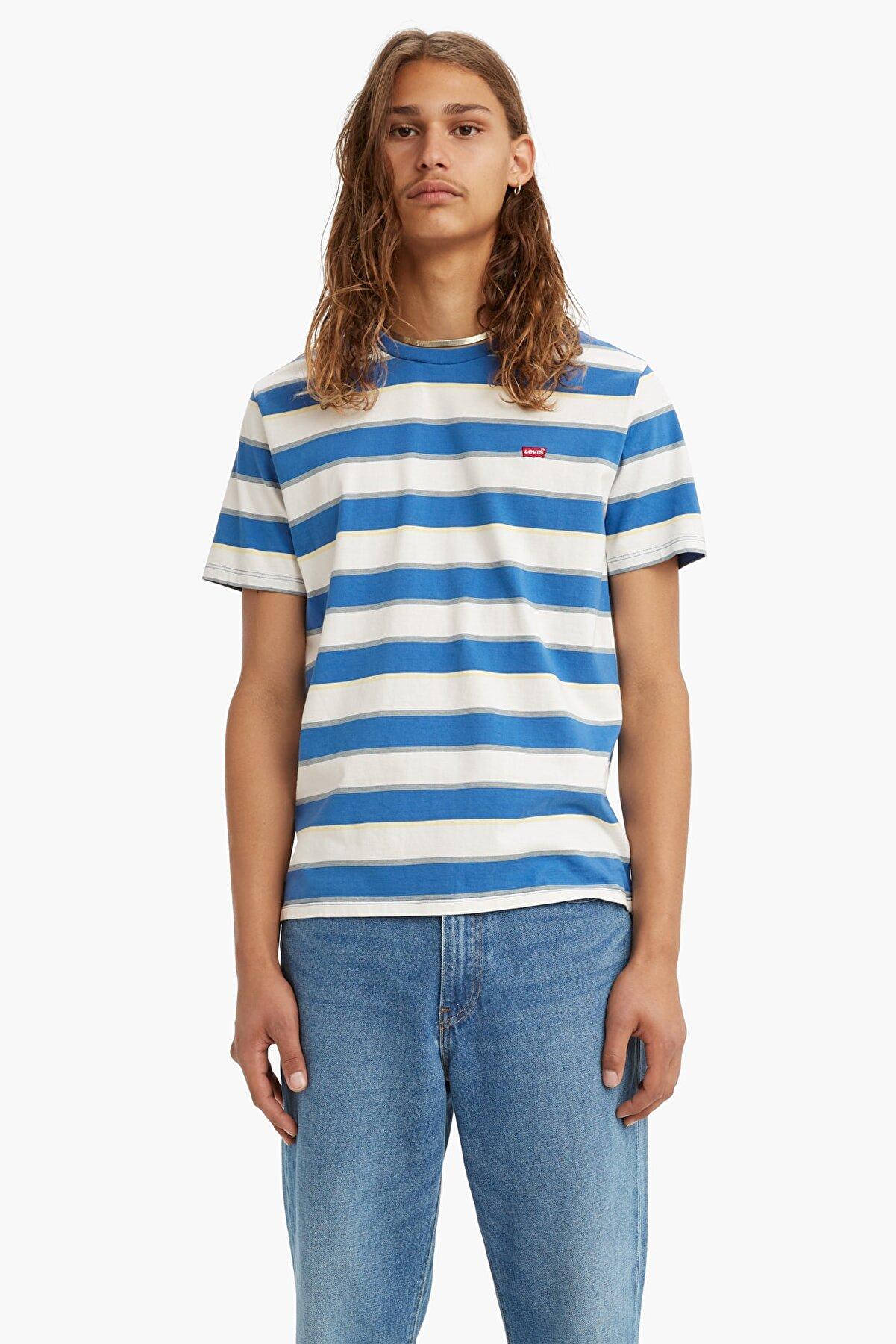 Levi's Original Housemark Erkek Mavi Tişört