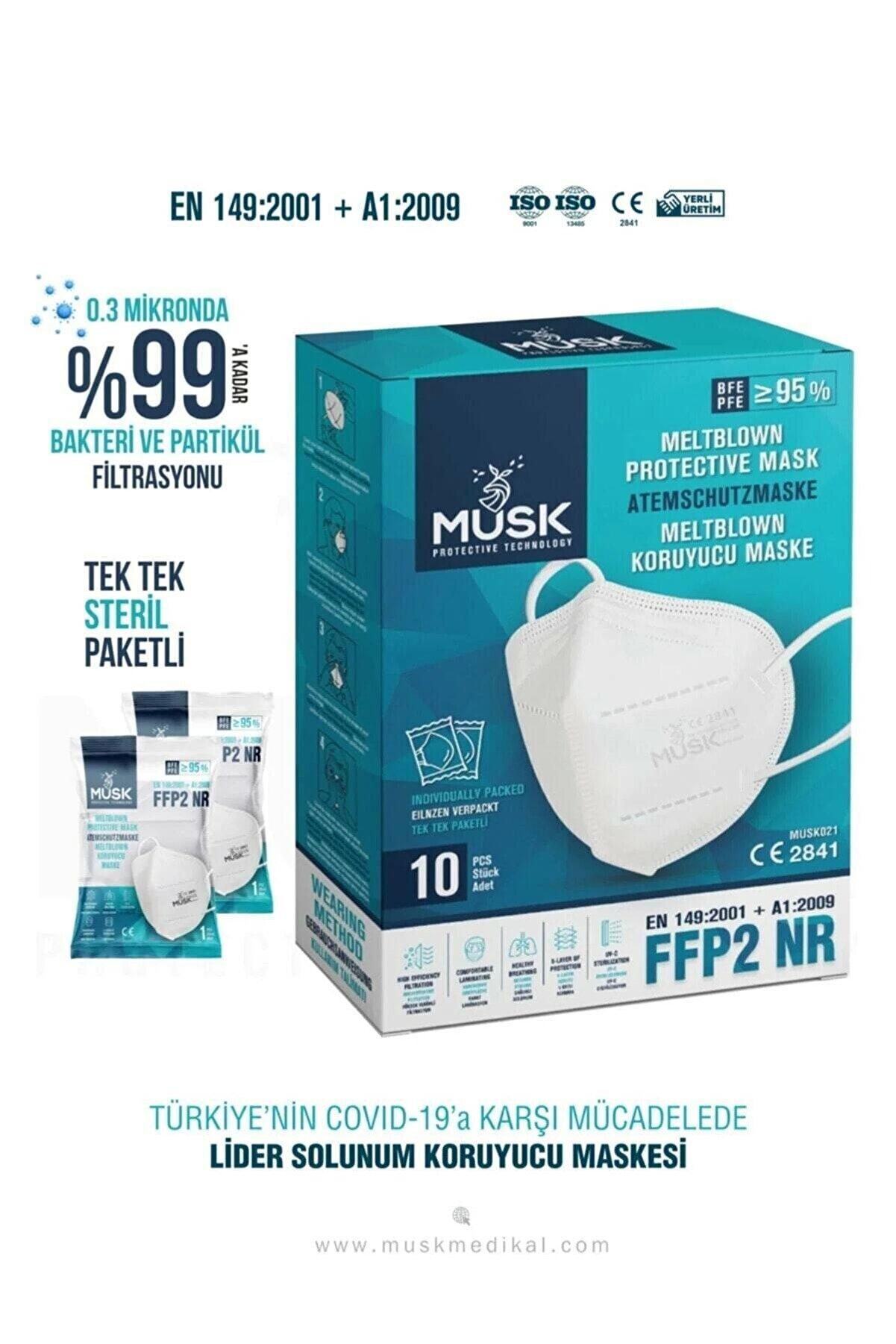 Musk Ffp2 Maske 10'lu 3 Paket 30 Adet