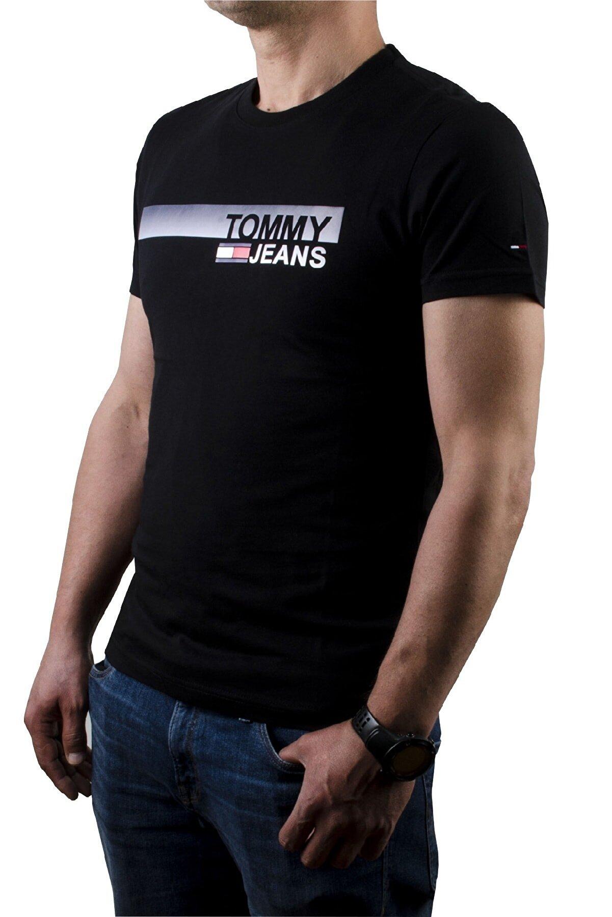Tommy Hilfiger Erkek Essential Box Logo T-shirt Dm0dm06089