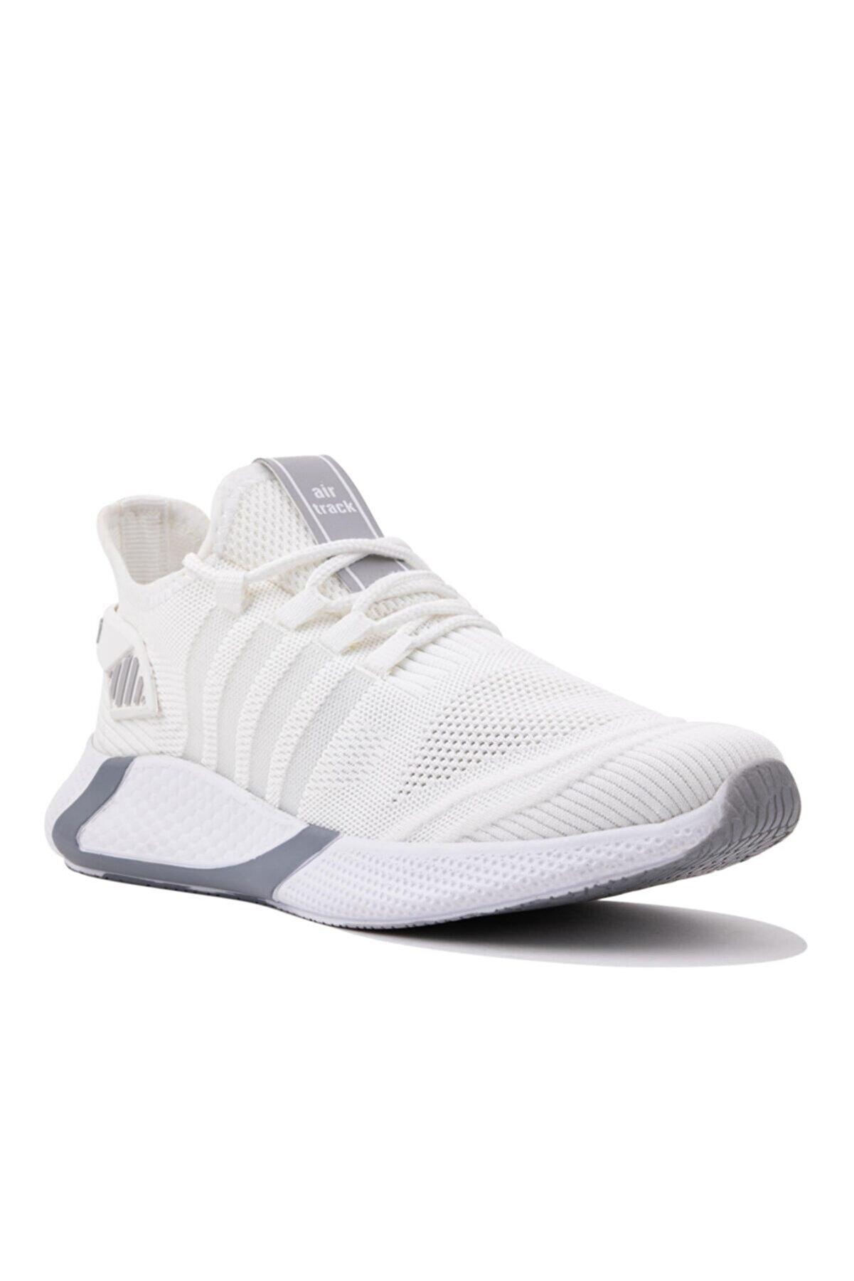 AIRTRACK Erkek Beyaz Günlük Yumuşak Mermory Hafıza Tabanlı Hafif Yürüyüş Ayakkabısı Sneaker