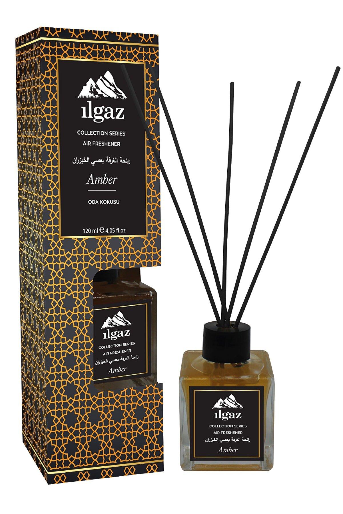 ILGAZ Collection Misk Amber Oda Kokusu Bambu Çubuklu Oda Parfümü 120 ml