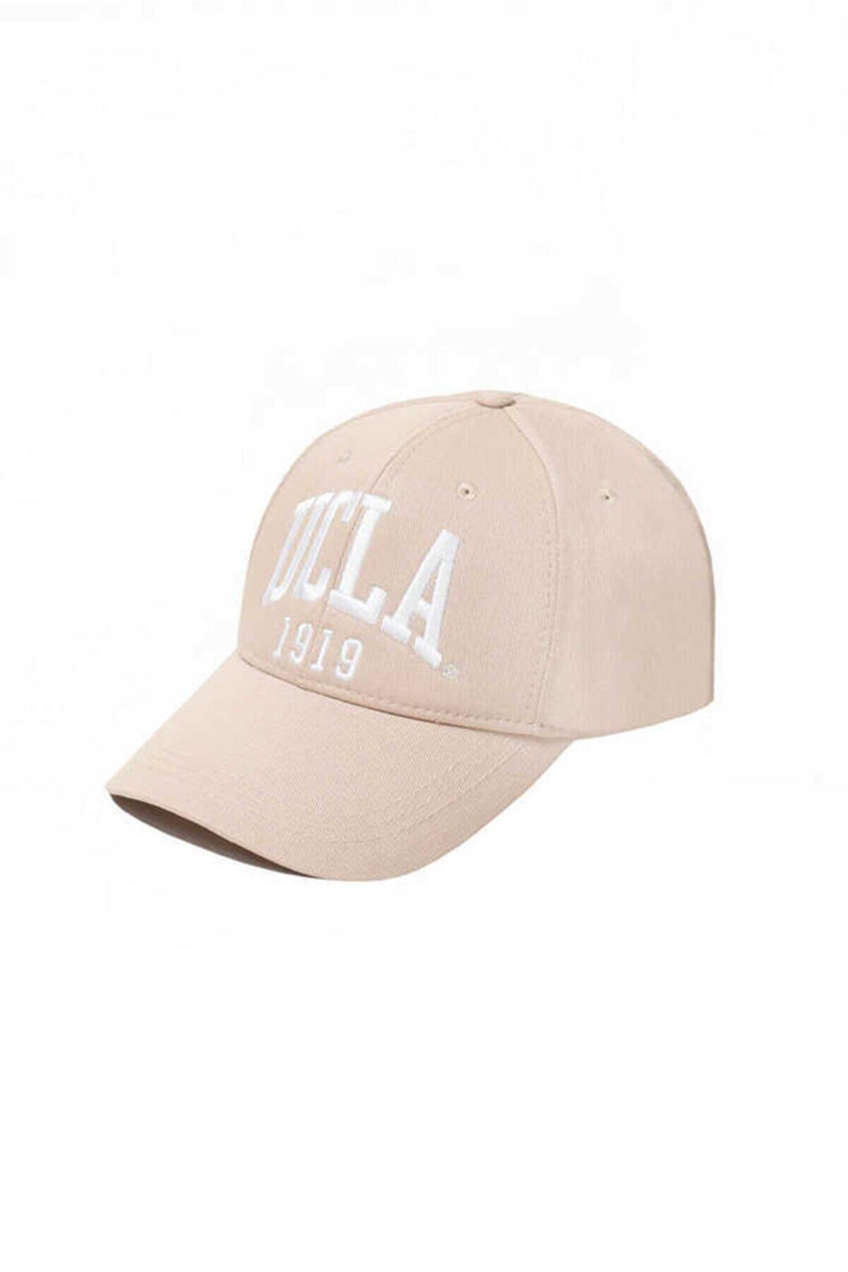Ucla Ballard Bej Baseball Cap Nakışlı Şapka