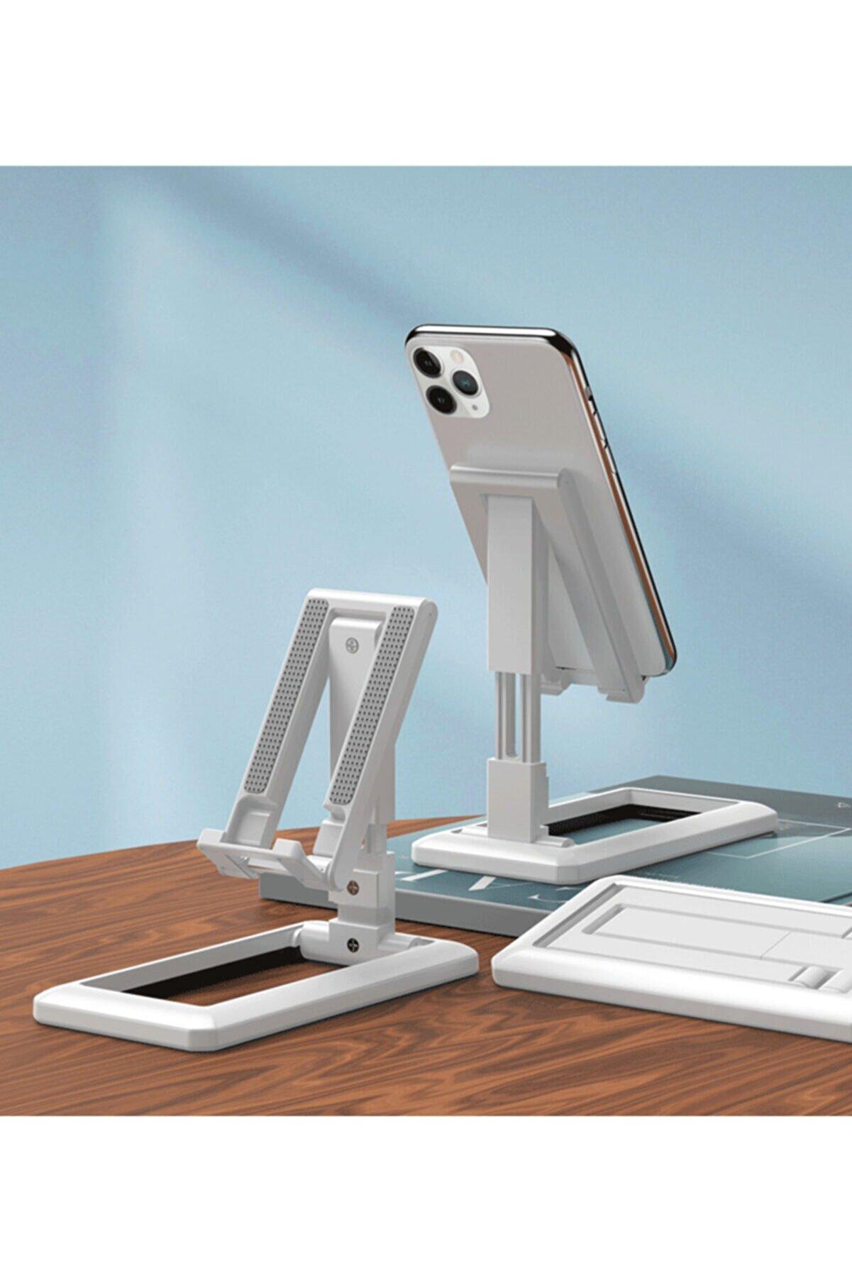 Wonderlust Profesyonel Tablet Ve Telefon Tutucu Stand 2 Kademeli Uzunluk Beyaz