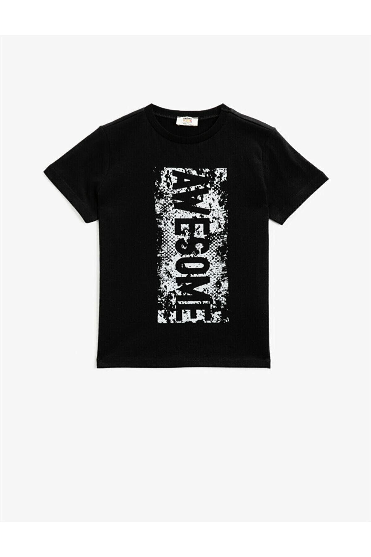 Koton Erkek Çocuk Siyah T-Shirt