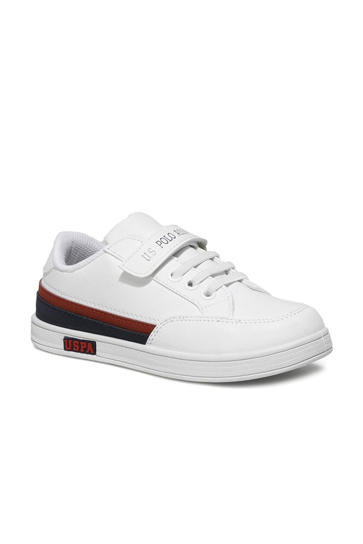 US Polo Assn Jamal 1fx Beyaz Erkek Çocuk Sneaker Ayakkabı