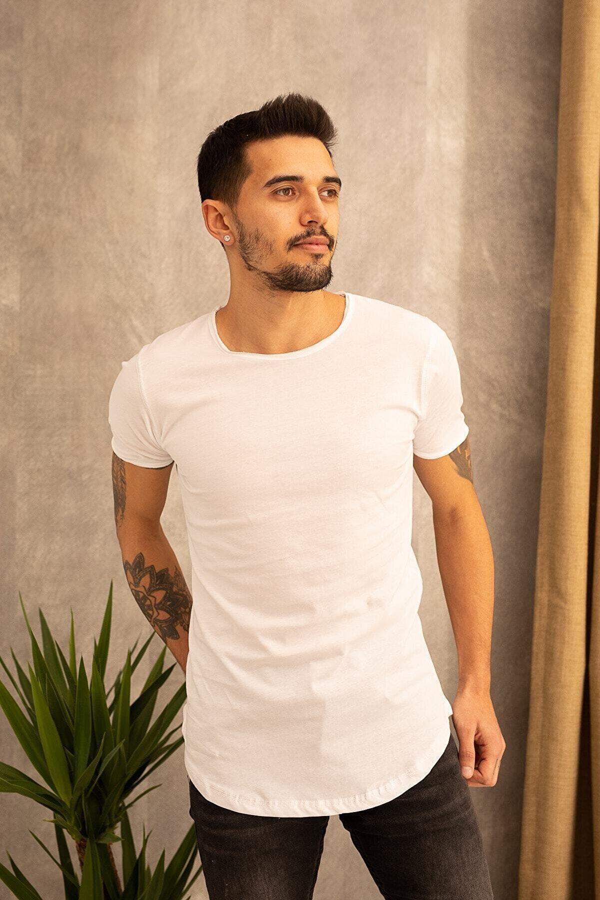 wamoss Dar Kalıp Uzun Basıc T-shirt