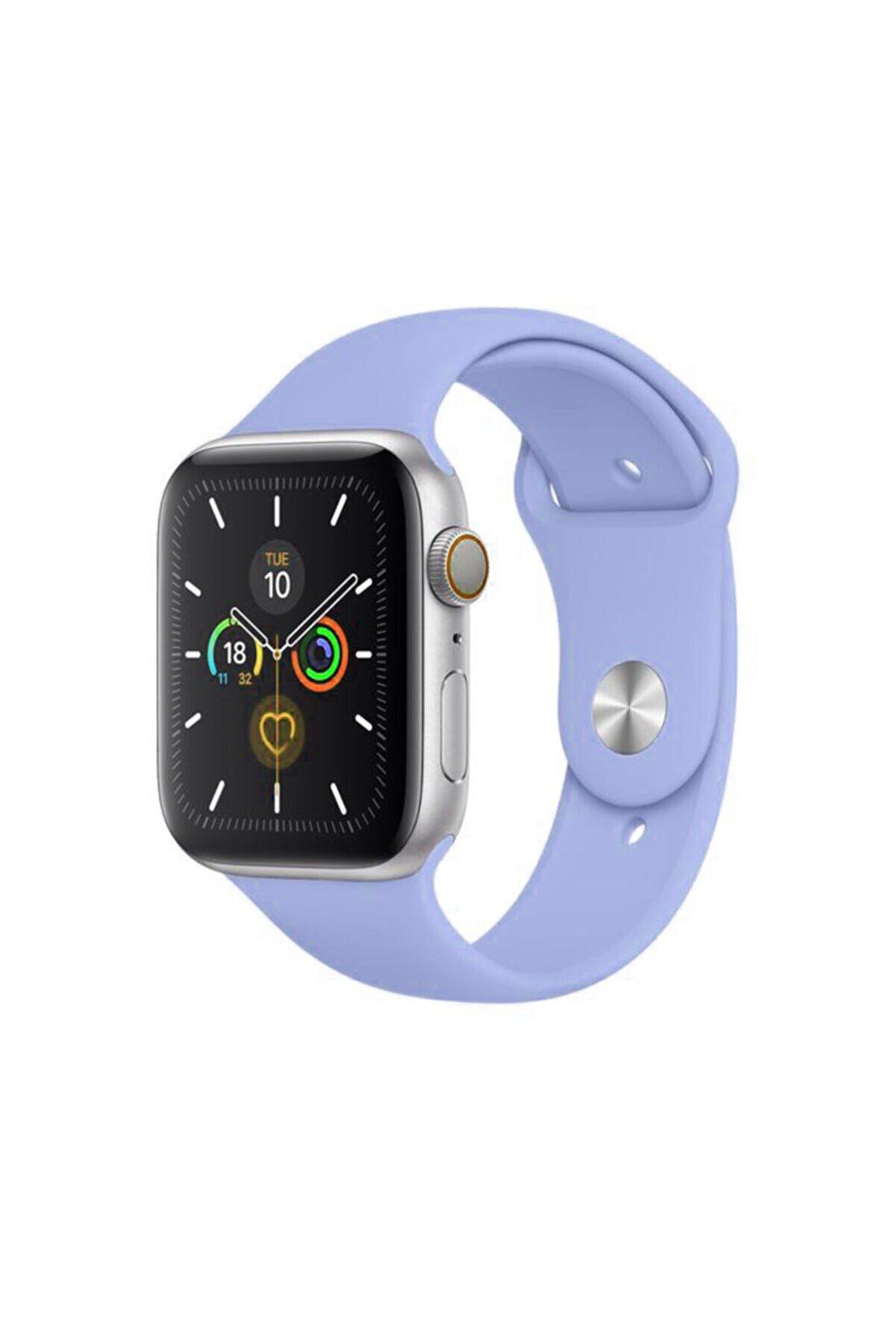 Cimricik Apple Watch Kordon 2 3 4 5 6 Se Seri 38 Mm Ve 40 Mm Silikon Kordon Kayış - Lila