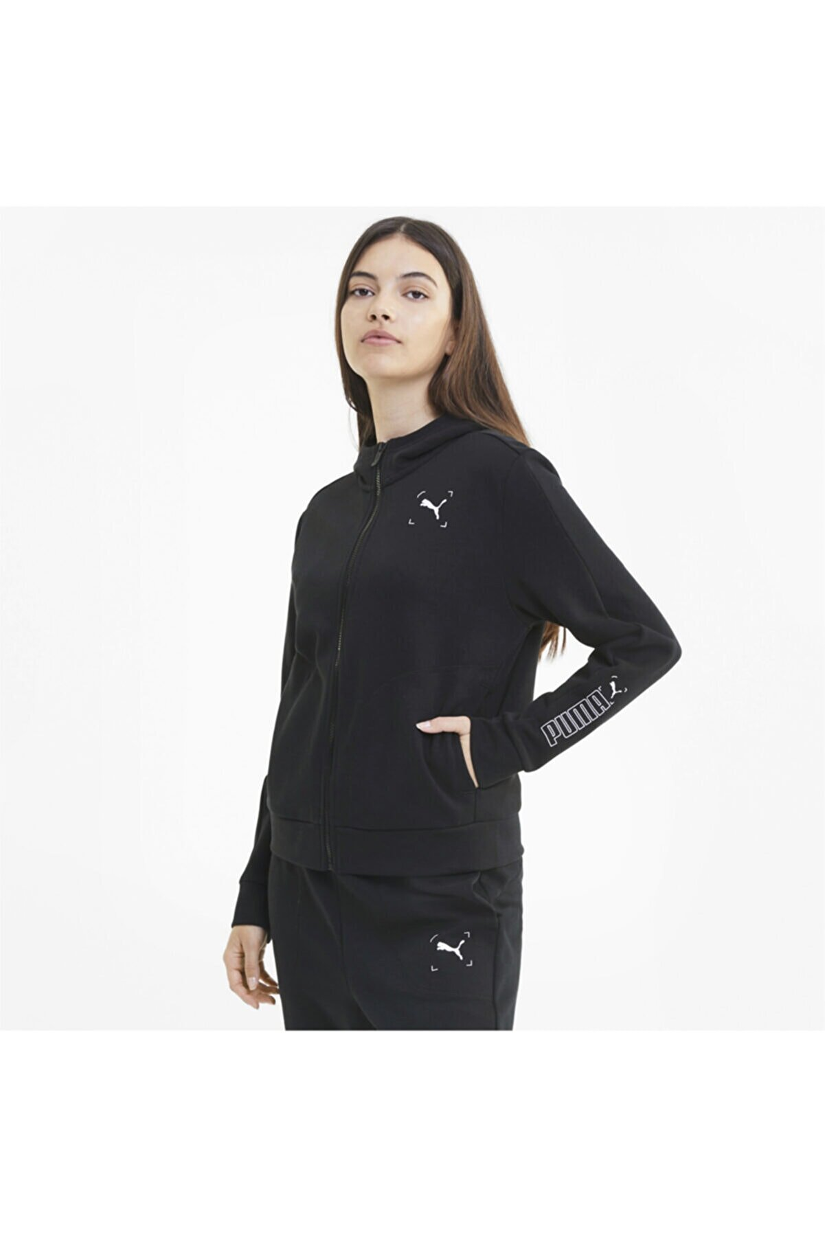 Puma NU-TILITY FULL-ZIP Siyah Kadın Sweatshirt 101119438