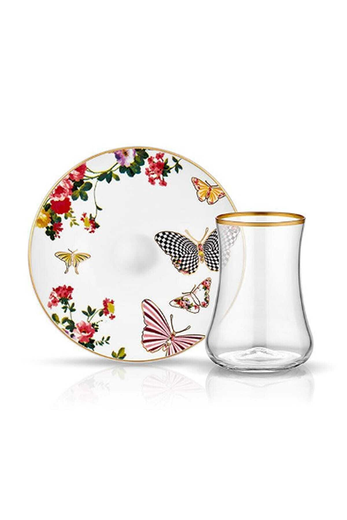 Koleksiyon Ev ve Mobilya Koleksiyon Dervish Mariposa 6lı Çay Seti