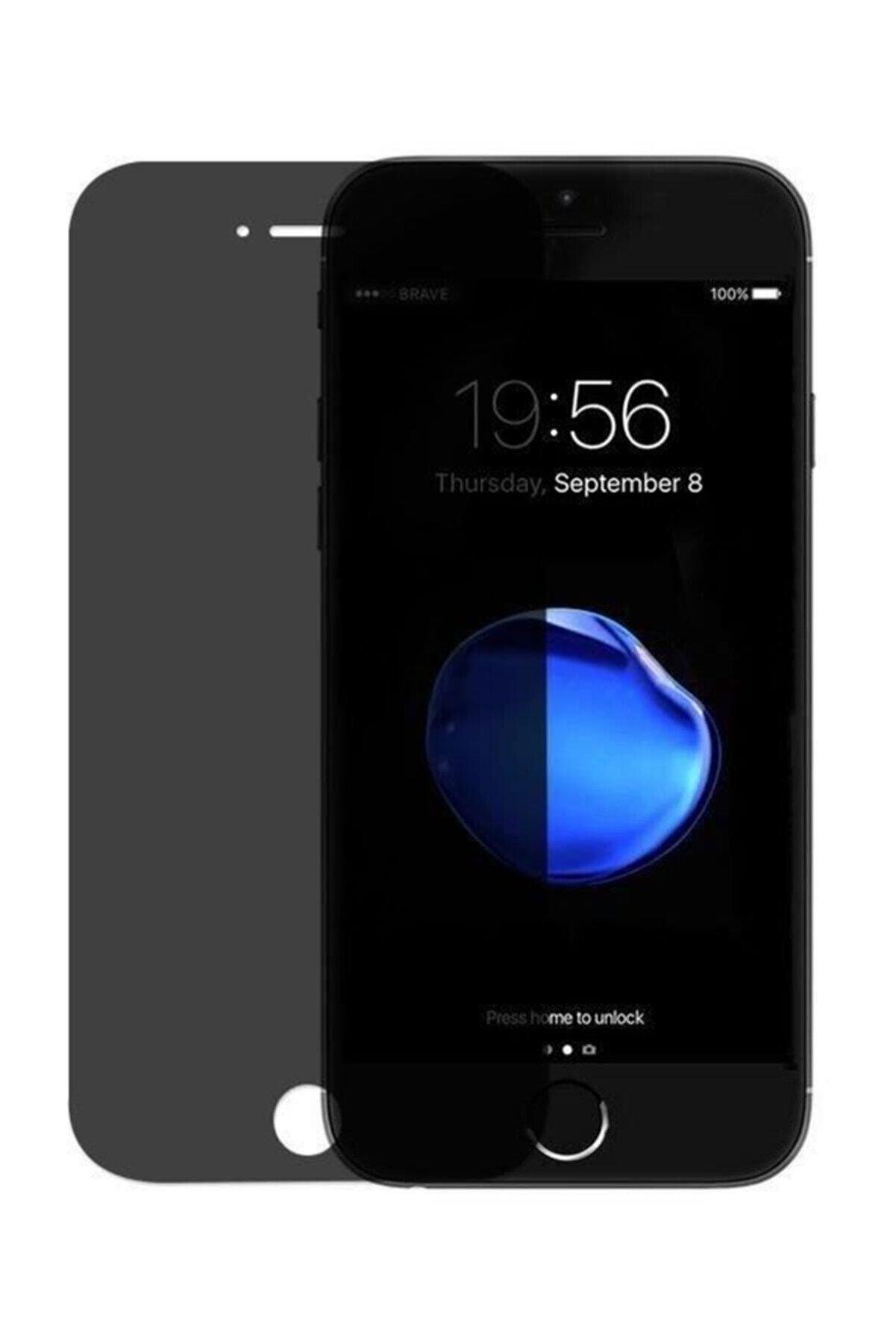 Newonline Apple Iphone 7 Plus 8 Plus Gizli Hayalet Cam 5d Kırılmaz Cam Siyah