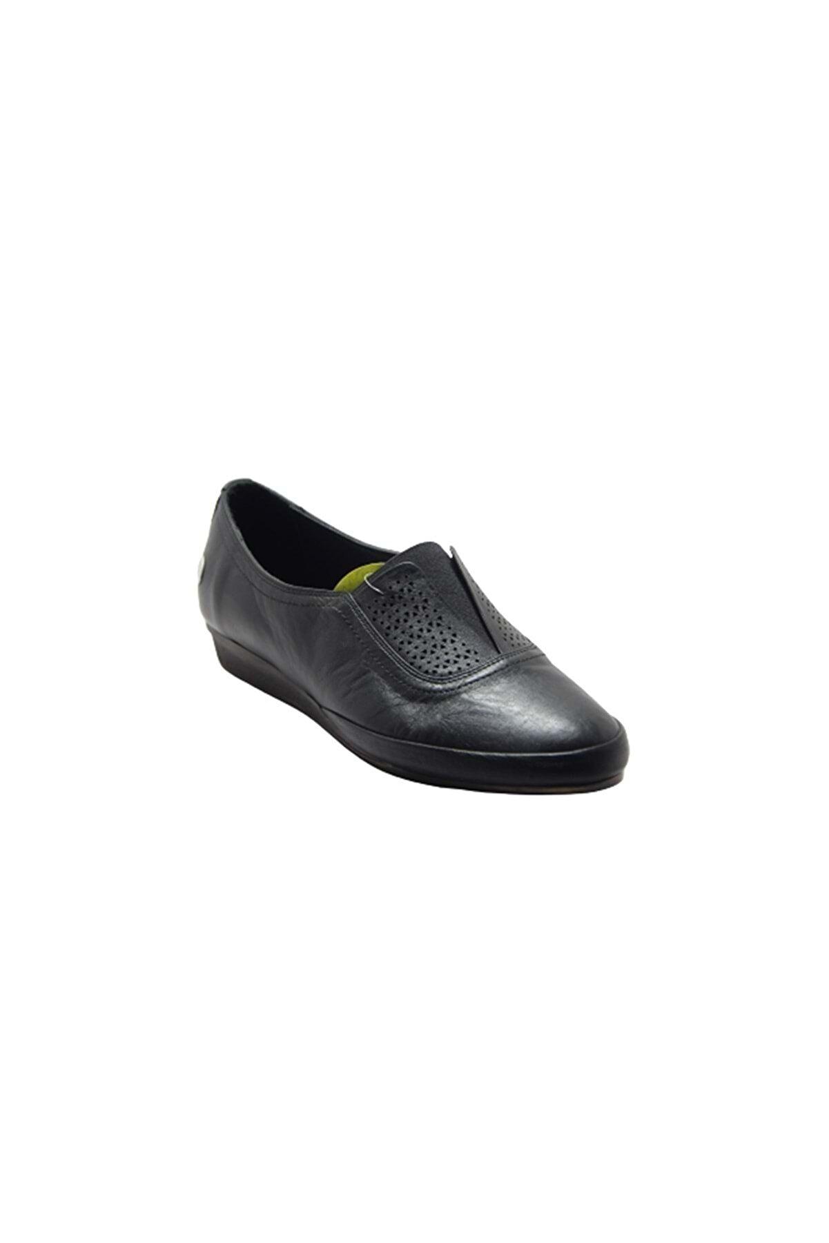 Mammamia D19ya-3815 %100 Deri Kadın Günlük Ayakkabı - Siyah - 37